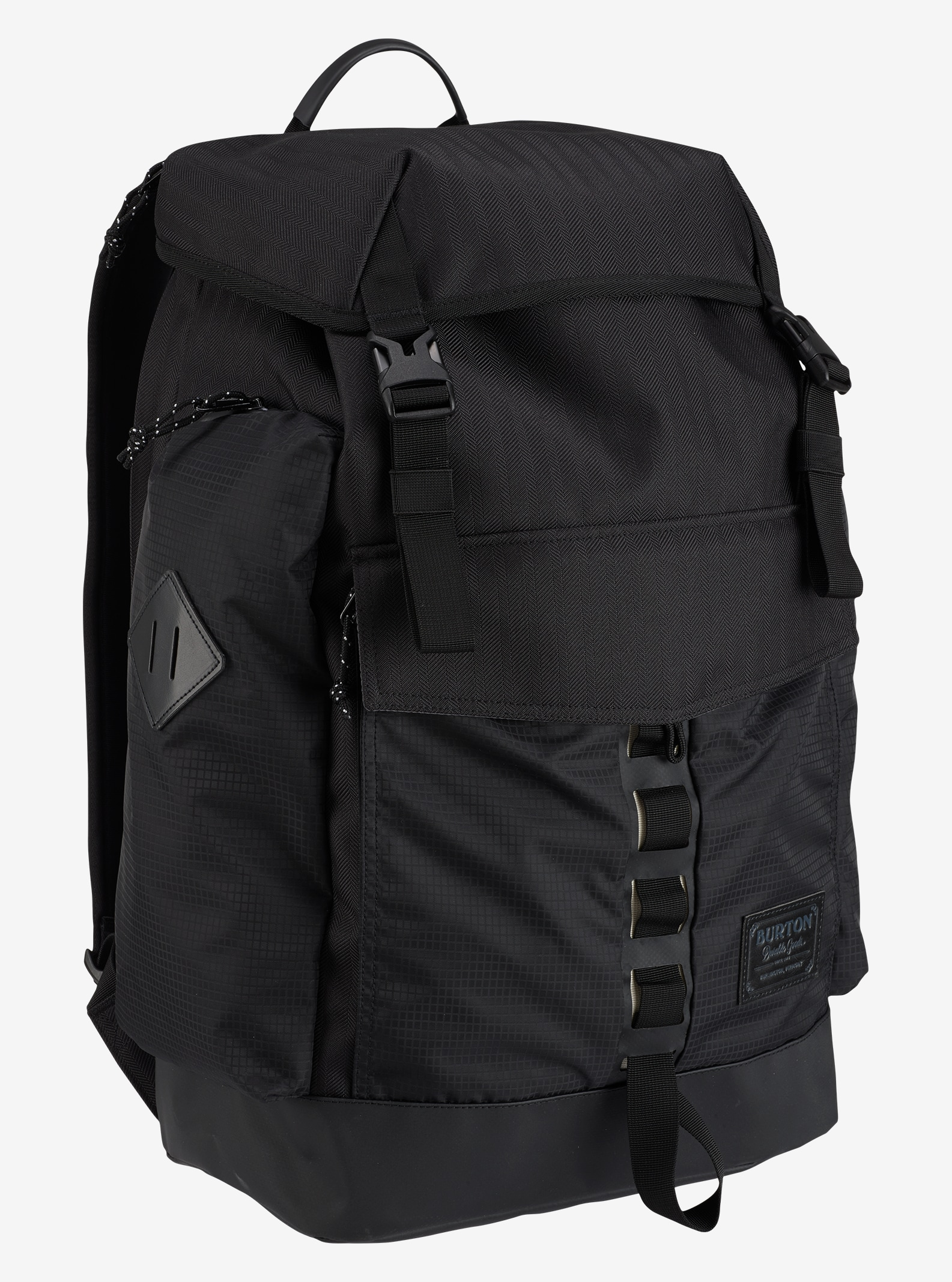 Burton Fathom Backpack shown in True Black Heather Twill
