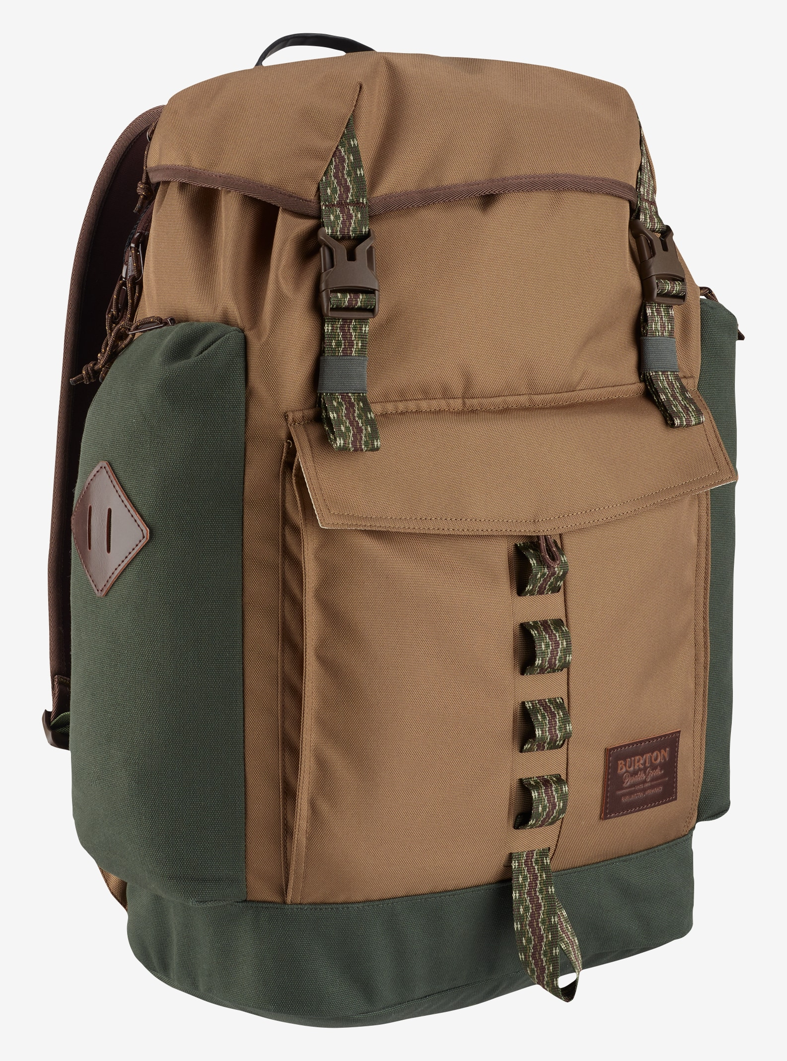 Burton Fathom Backpack shown in Kelp Coated