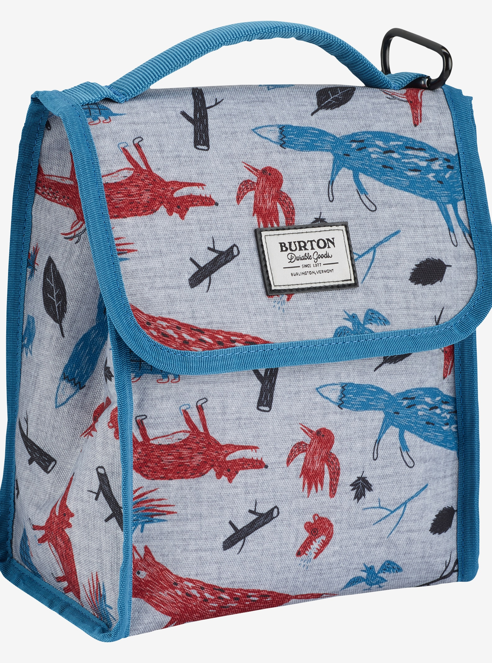 Burton Lunch Sack shown in Big Bad Wolf Print