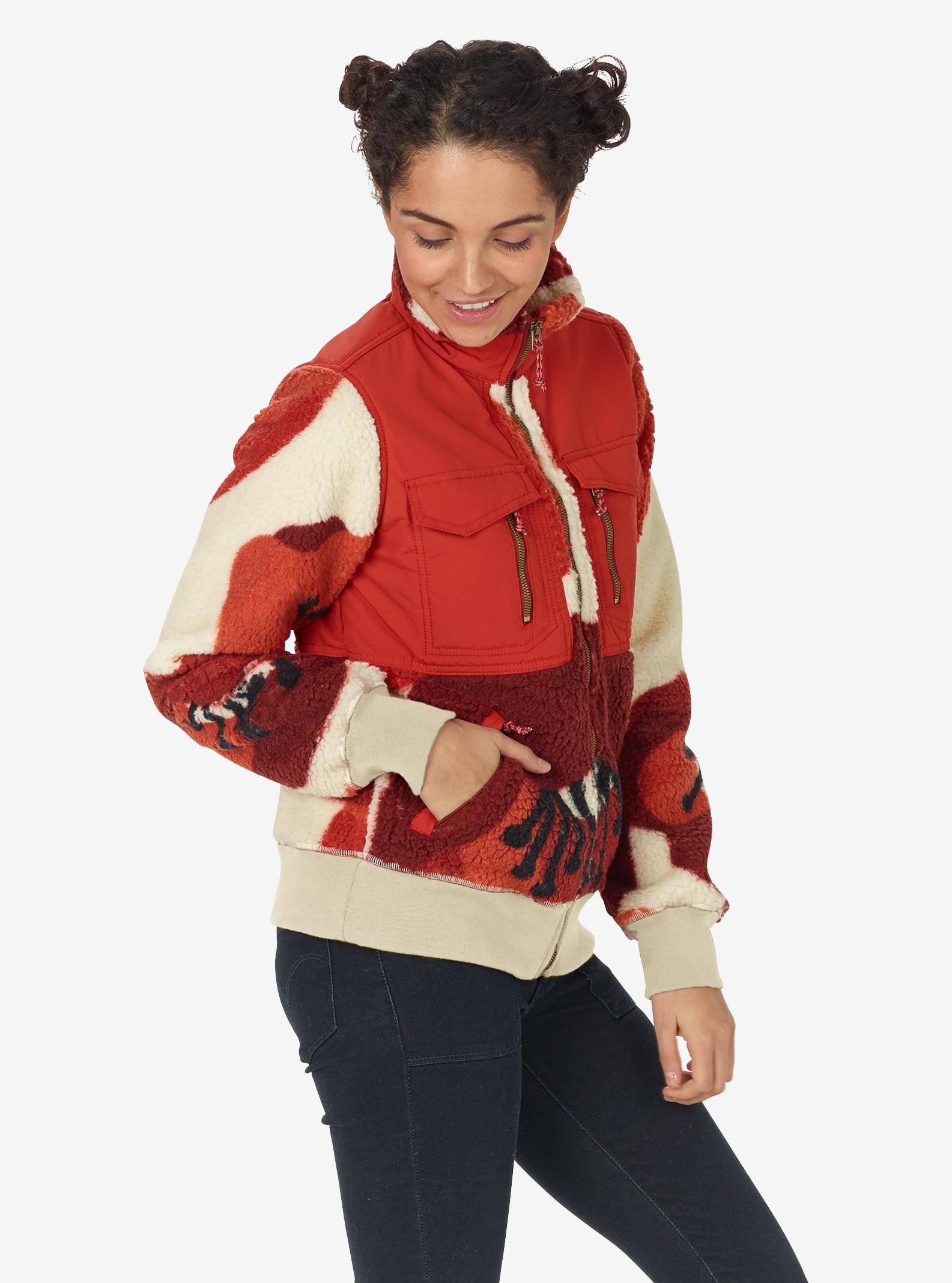 Women's Burton Bolden Full-Zip Fleece shown in Canvas Poppyfield