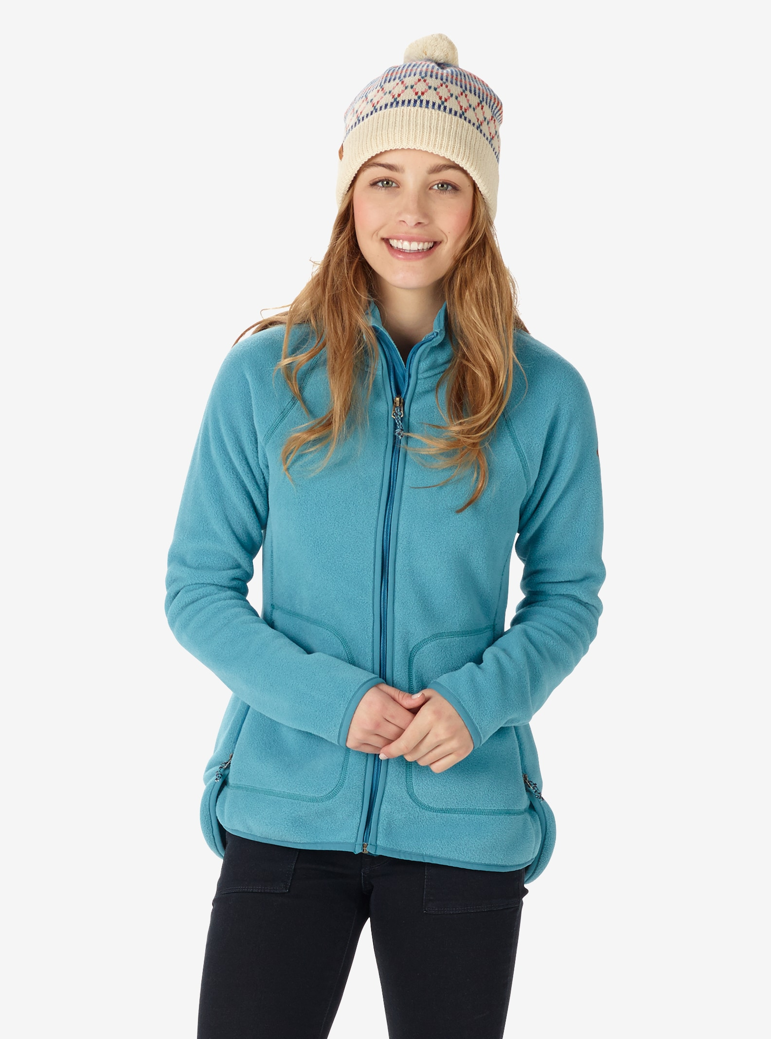 Women's Burton Lira Full-Zip Fleece shown in Larkspur