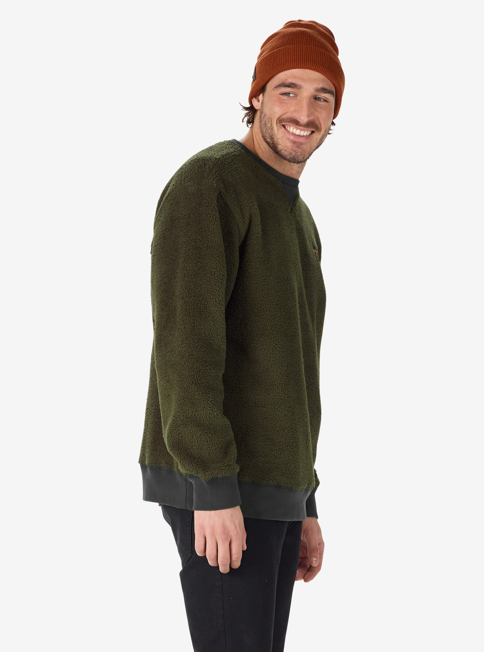 Men's Burton Tribute Fleece Crew shown in Forest Night
