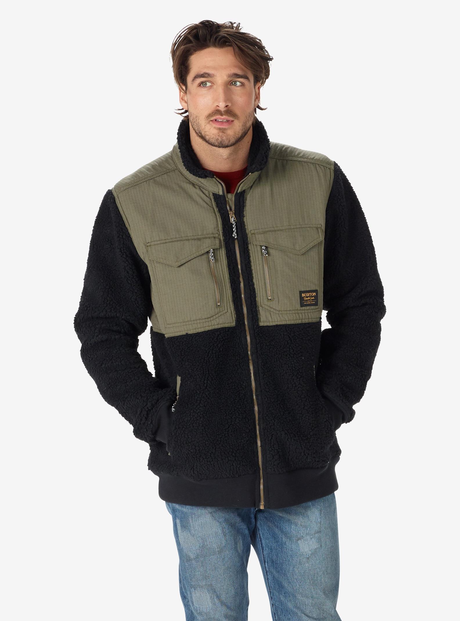Men's Burton Bower Full-Zip Fleece shown in True Black
