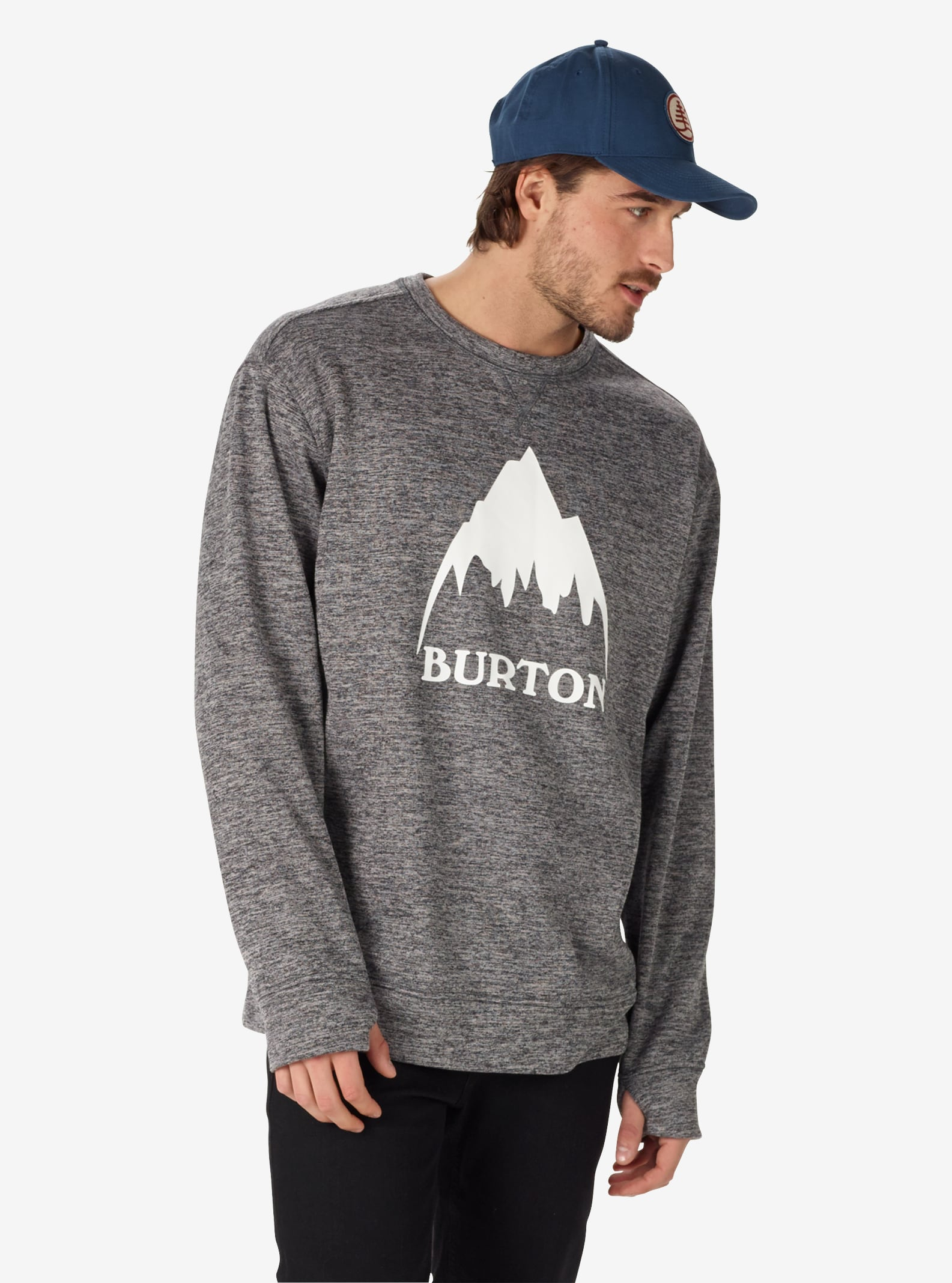 Burton - Pull ras du cou Oak homme affichage en True Black Heather