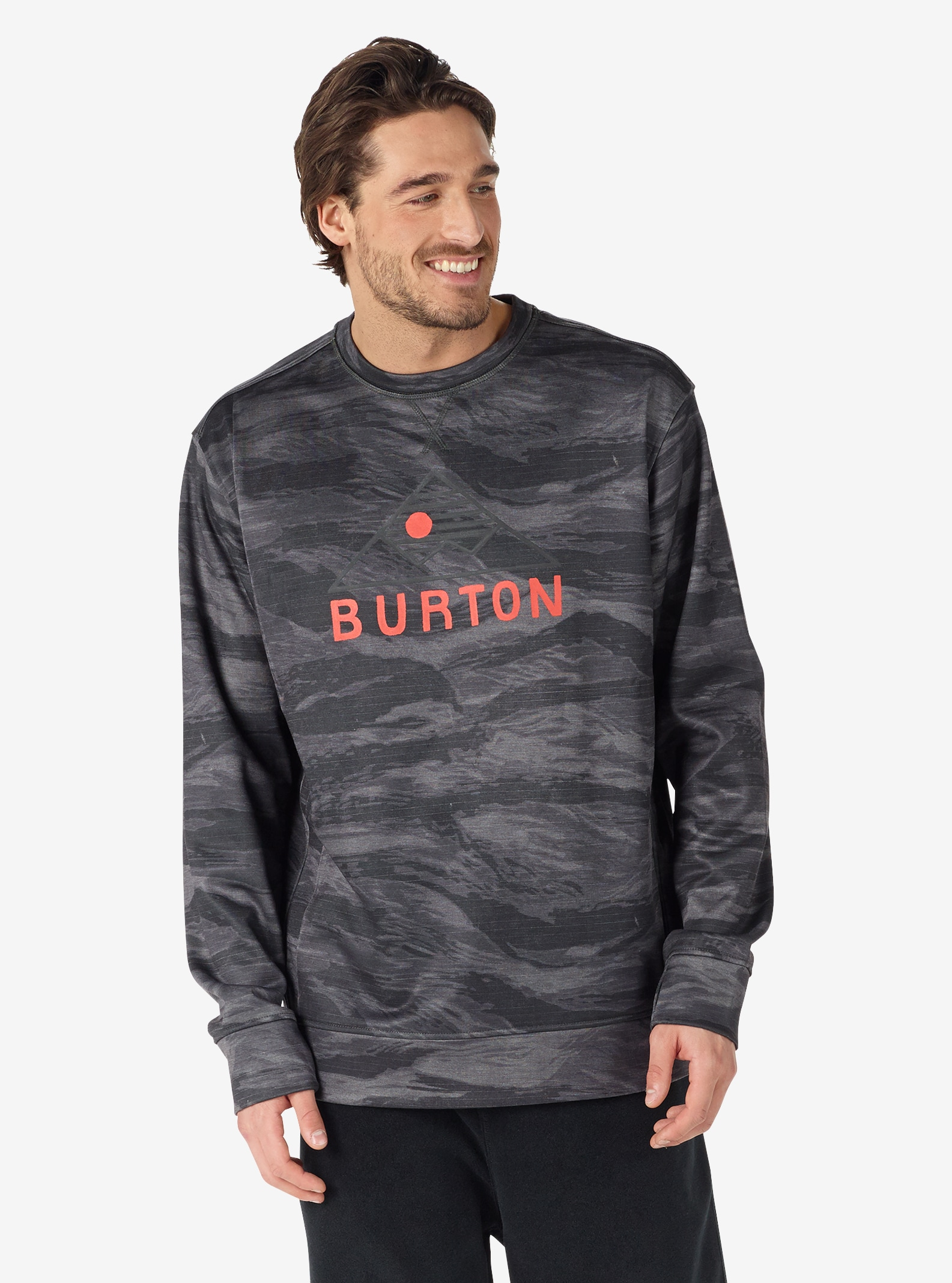 Men's Burton Oak Crew shown in Faded Worn Tiger