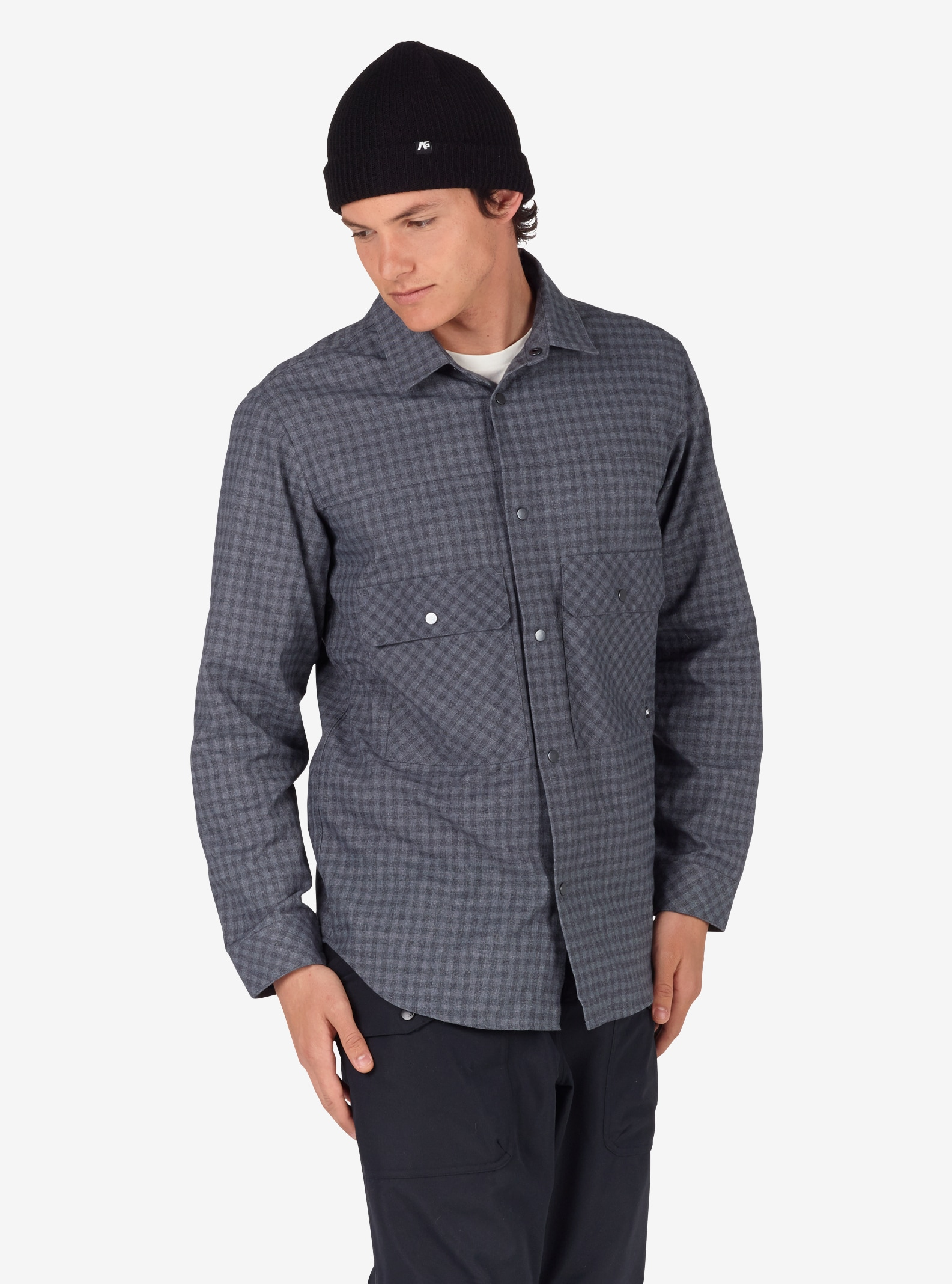 Men's Analog ATF Operative Flannel shown in Heathers Check