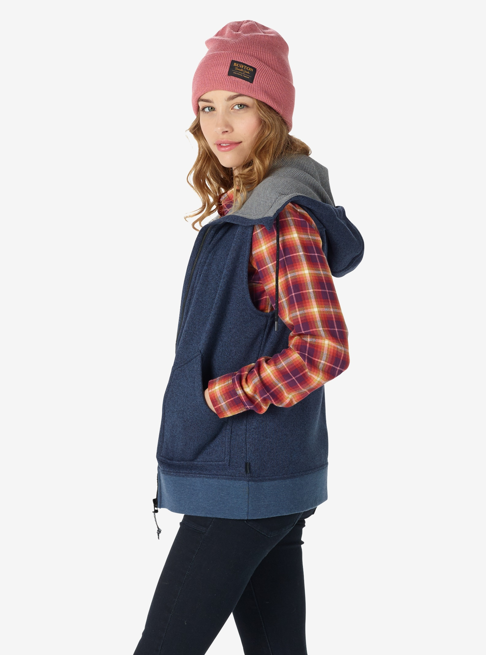 Women's Burton Starr Vest shown in Mood Indigo Heather