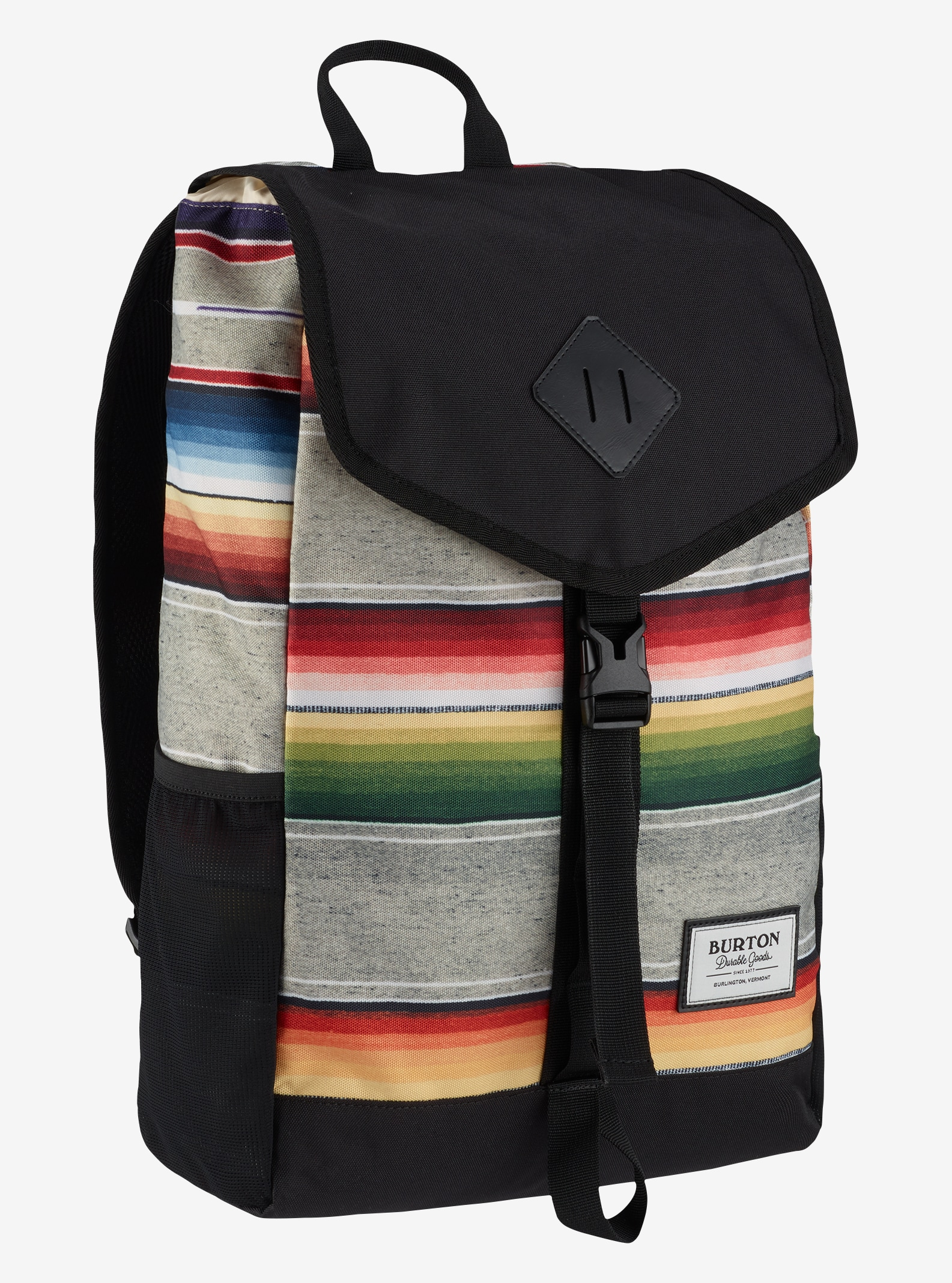 Burton Wesfall Backpack shown in Bright Sinola Stripe Print