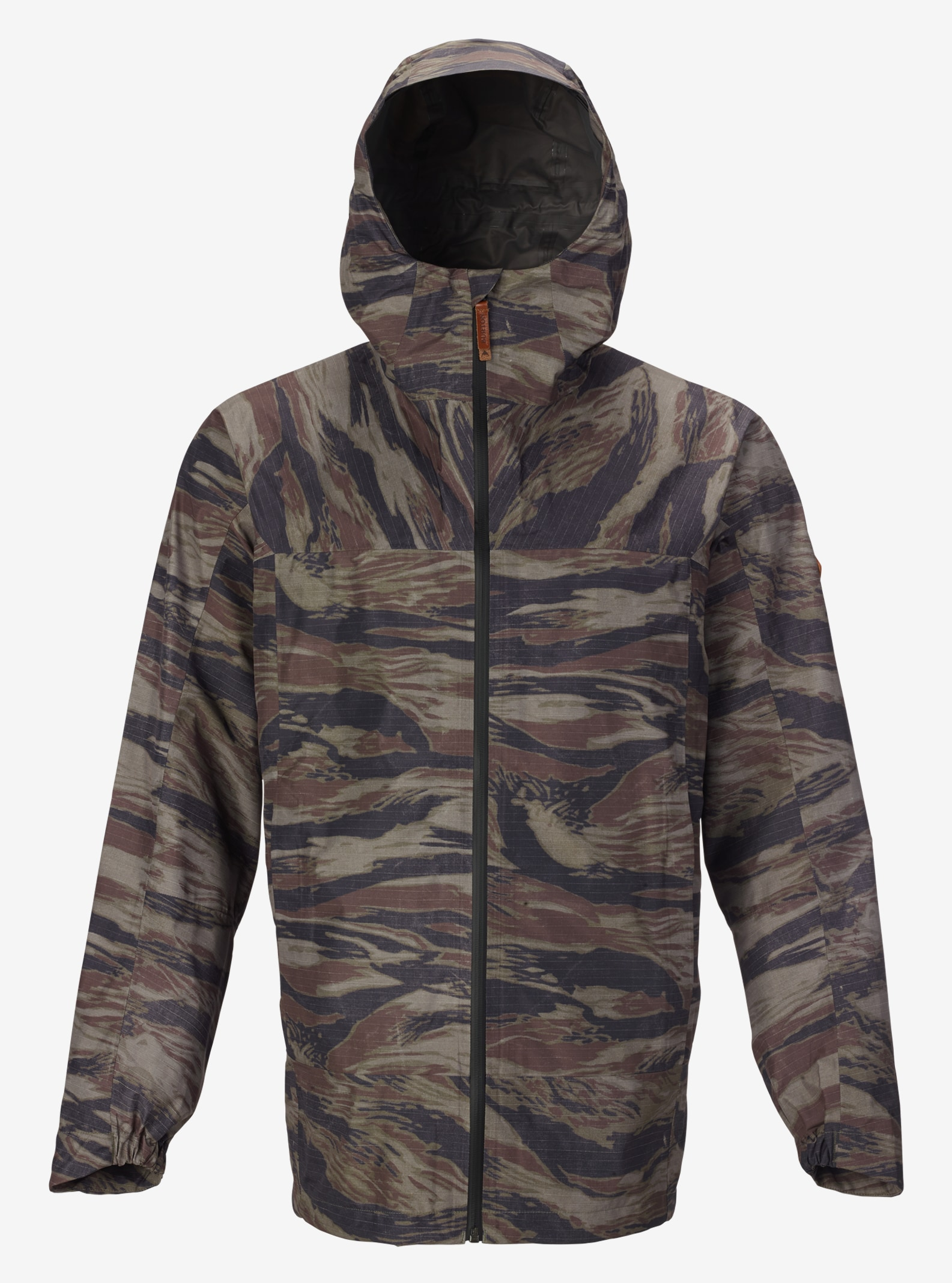 Men's Burton GORE‑TEX® Packrite Jacket shown in Olive Green Worn Tiger