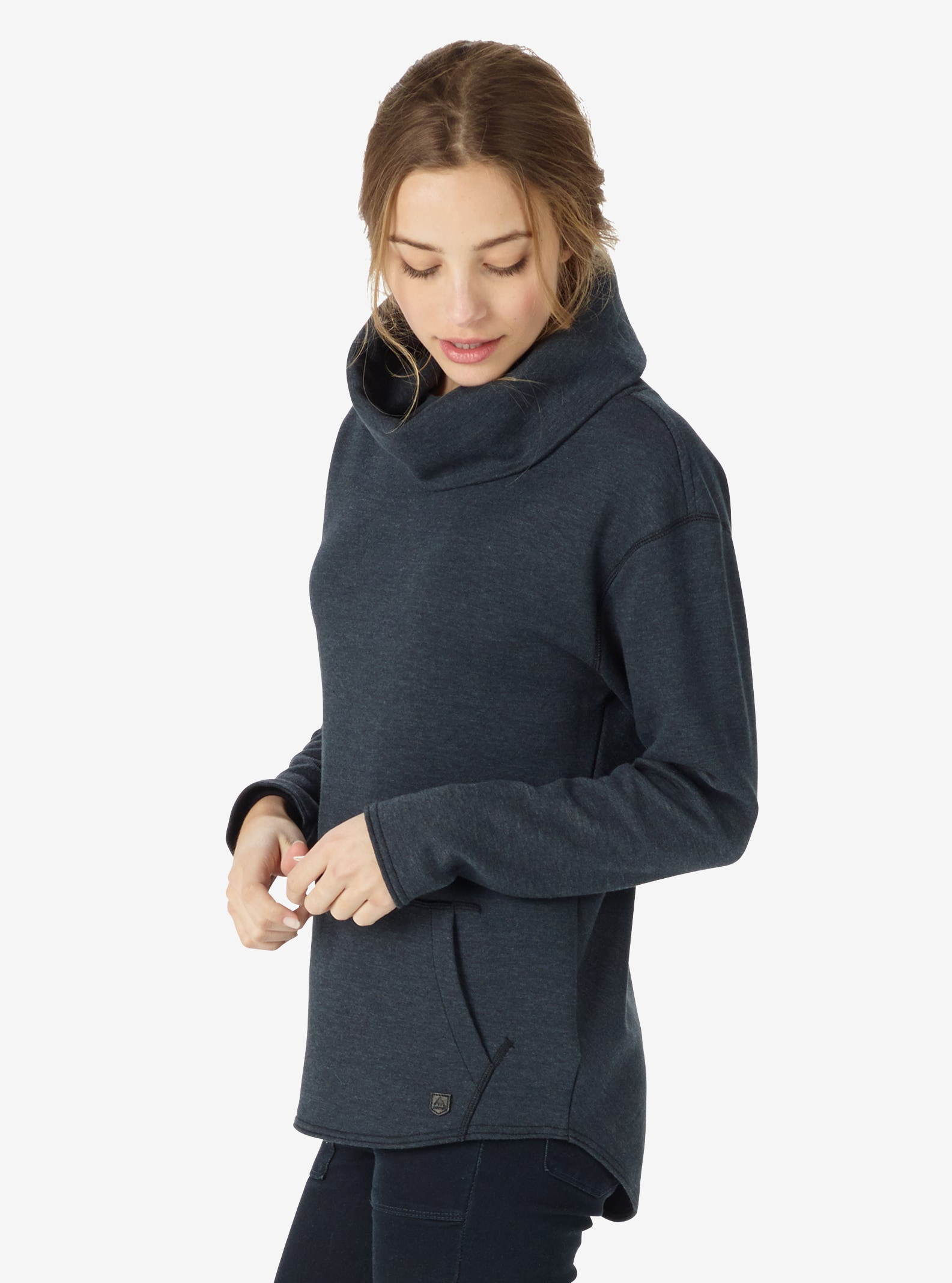 Women's Burton Ellmore Pullover shown in True Black Heather