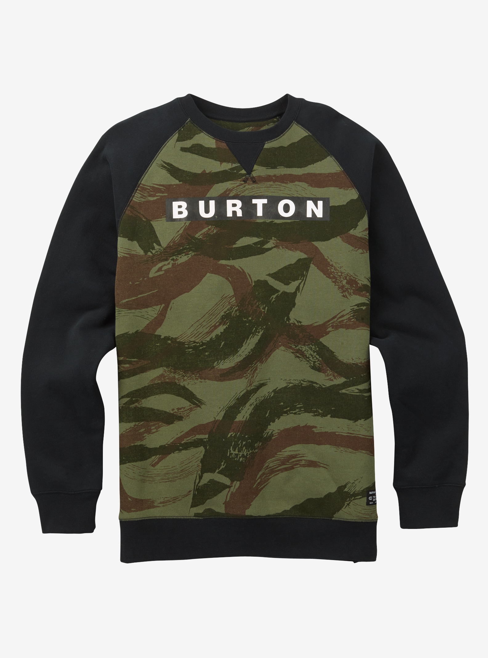 Burton Vault Crew shown in Brush Camo