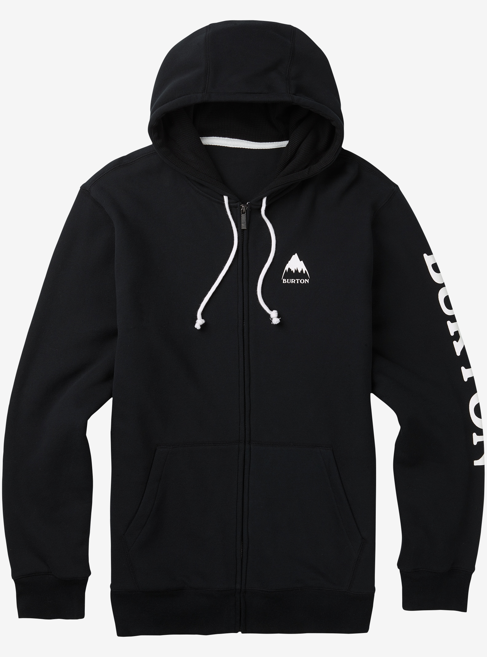 Men's Burton Elite Full-Zip Hoodie shown in True Black