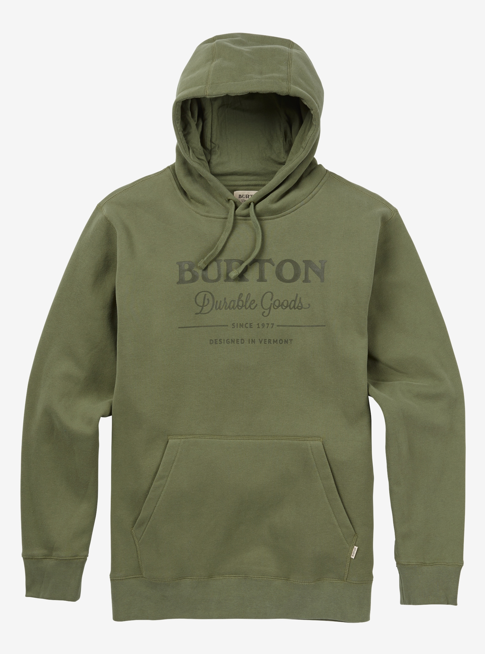 Men's Burton Durable Goods Pullover Hoodie shown in Dusty Olive