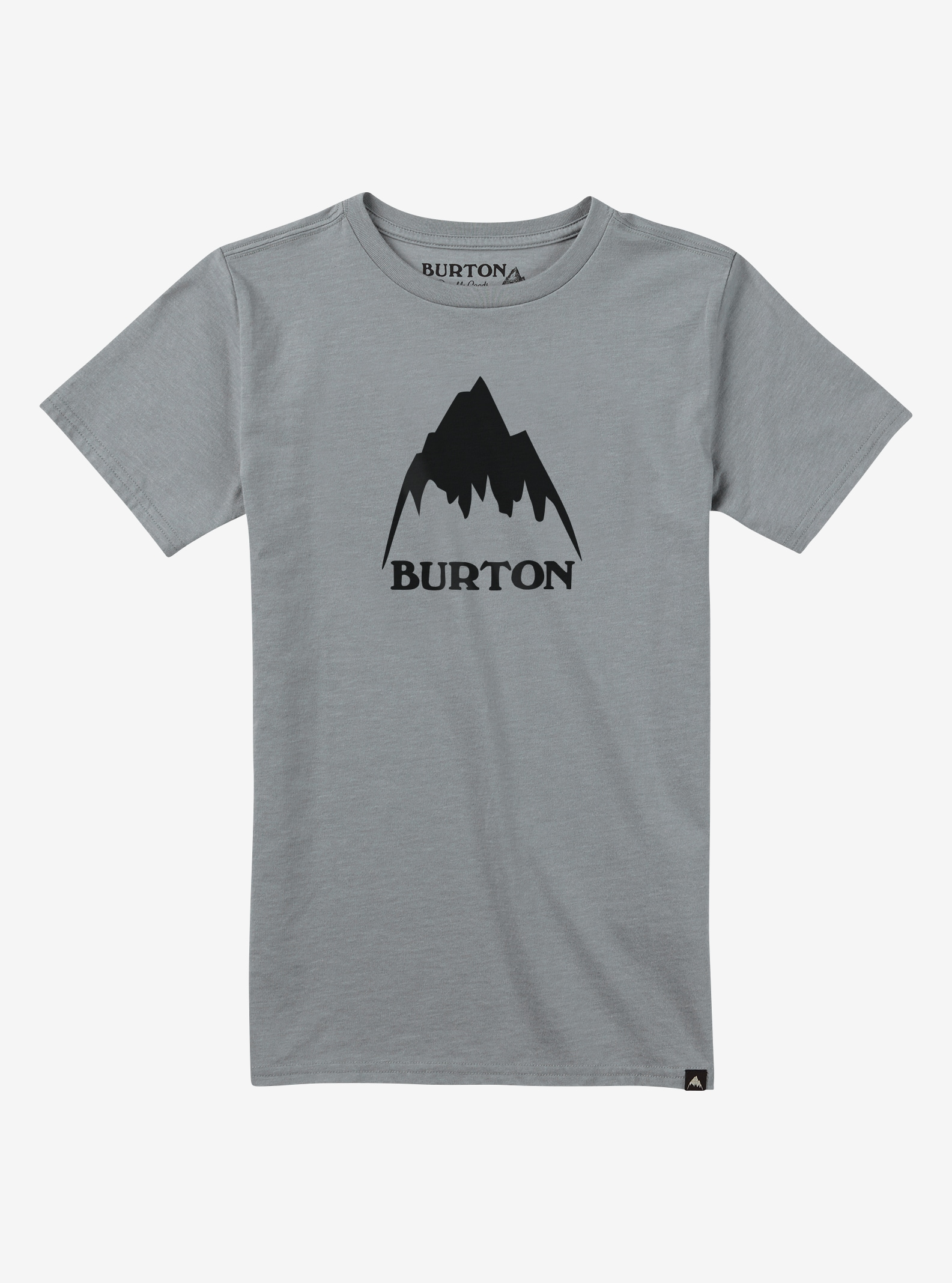 Boys' Burton Classic Mountain High Short Sleeve T Shirt shown in Gray Heather