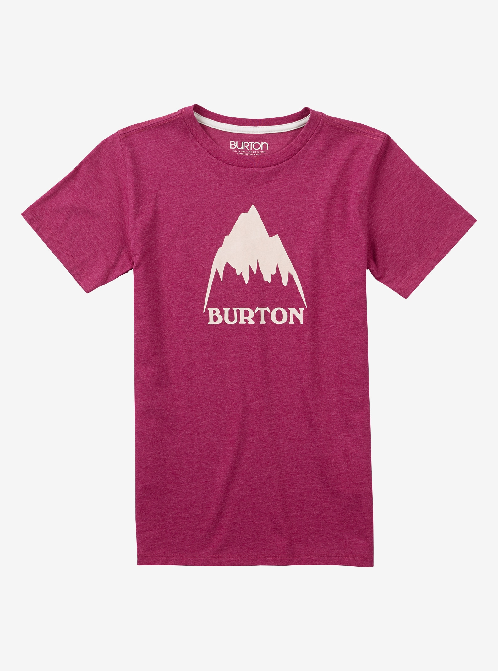 Girls' Burton Classic Mountain High Short Sleeve T Shirt shown in Anemone Heather