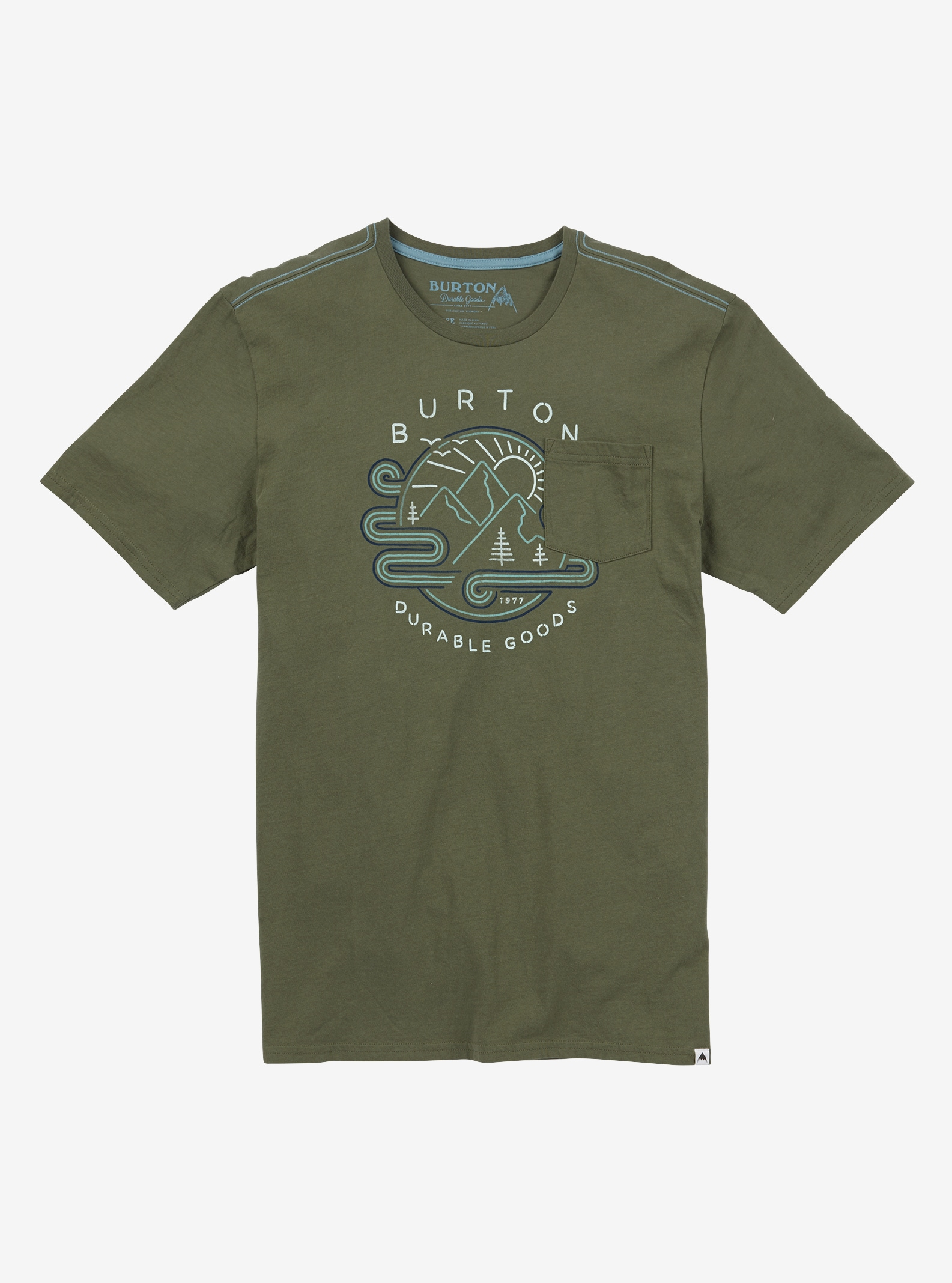 Men's Burton Grange Short Sleeve T Shirt shown in Dusty Olive
