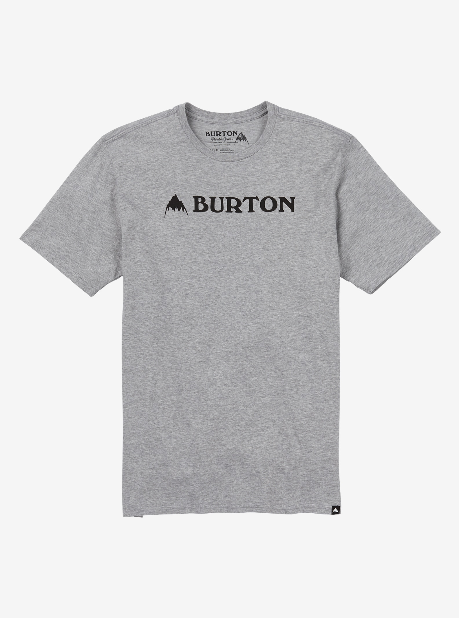 Men's Burton Mountain Horizontal Short Sleeve T Shirt shown in Gray Heather