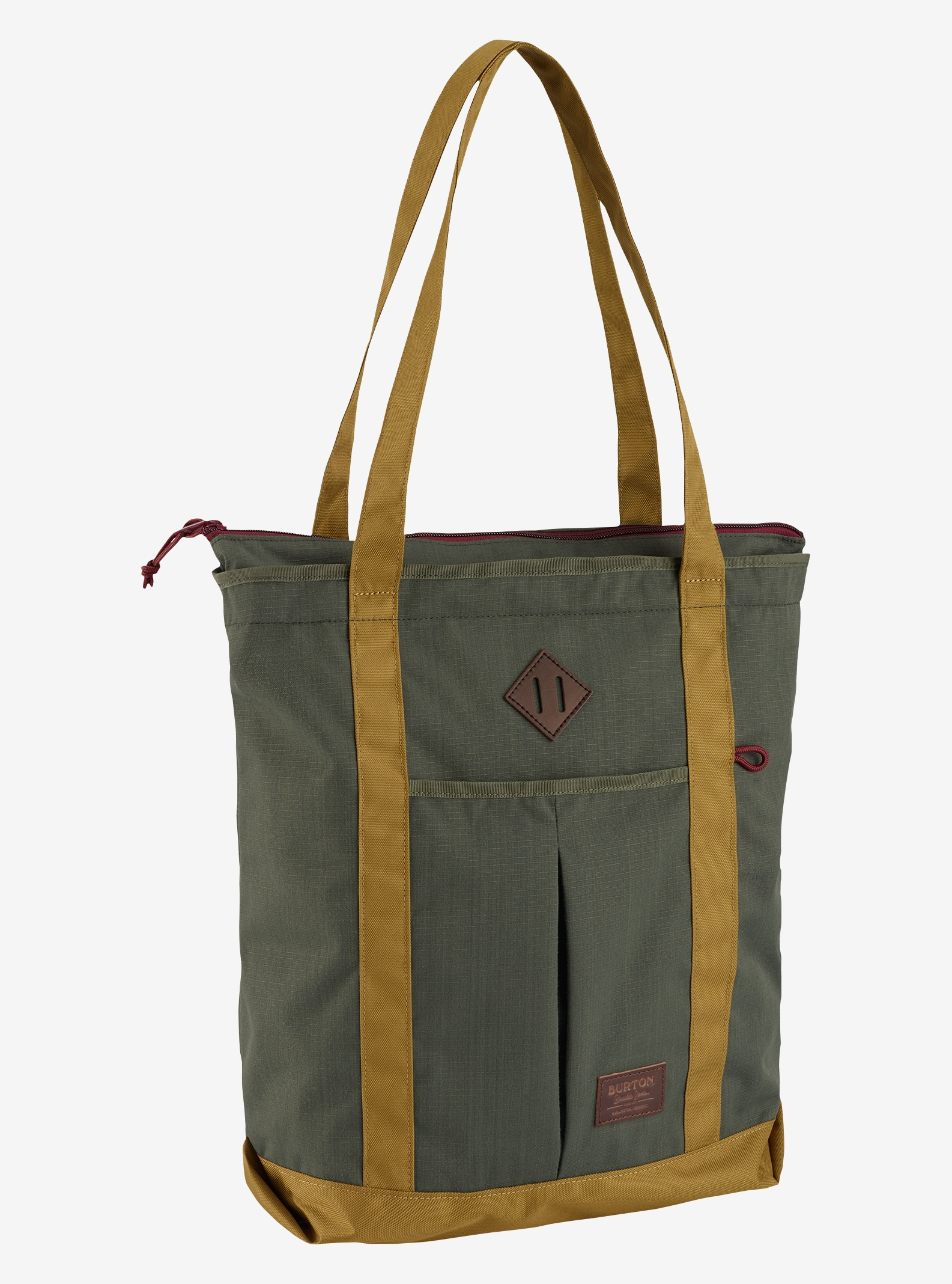 Burton NS Zip Crate Tote shown in Forest Night Ripstop