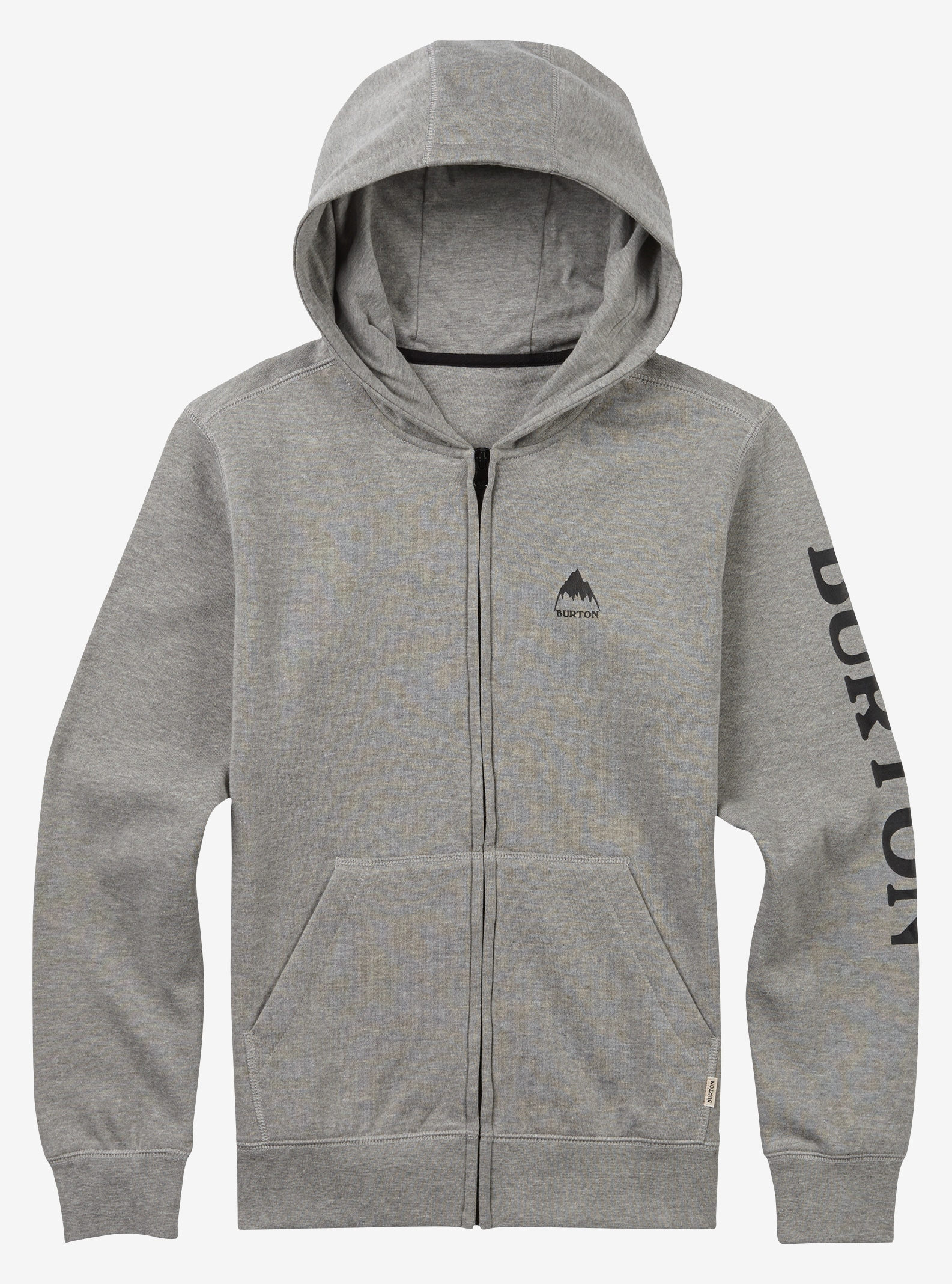 Boys' Burton Elite Full-Zip Hoodie shown in Gray Heather