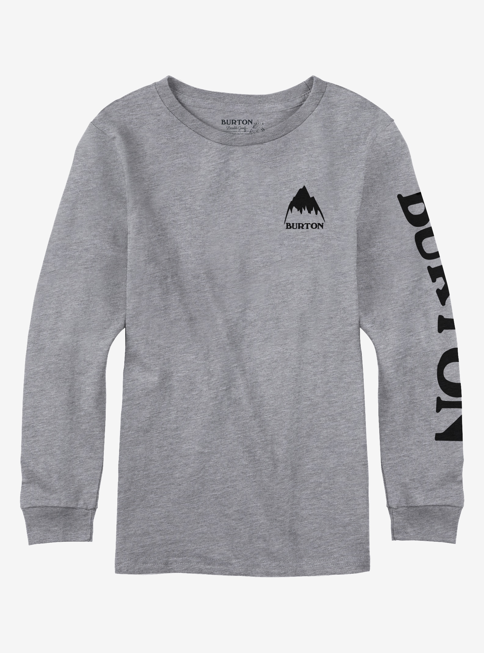 Boys' Burton Elite Long Sleeve T Shirt shown in Gray Heather