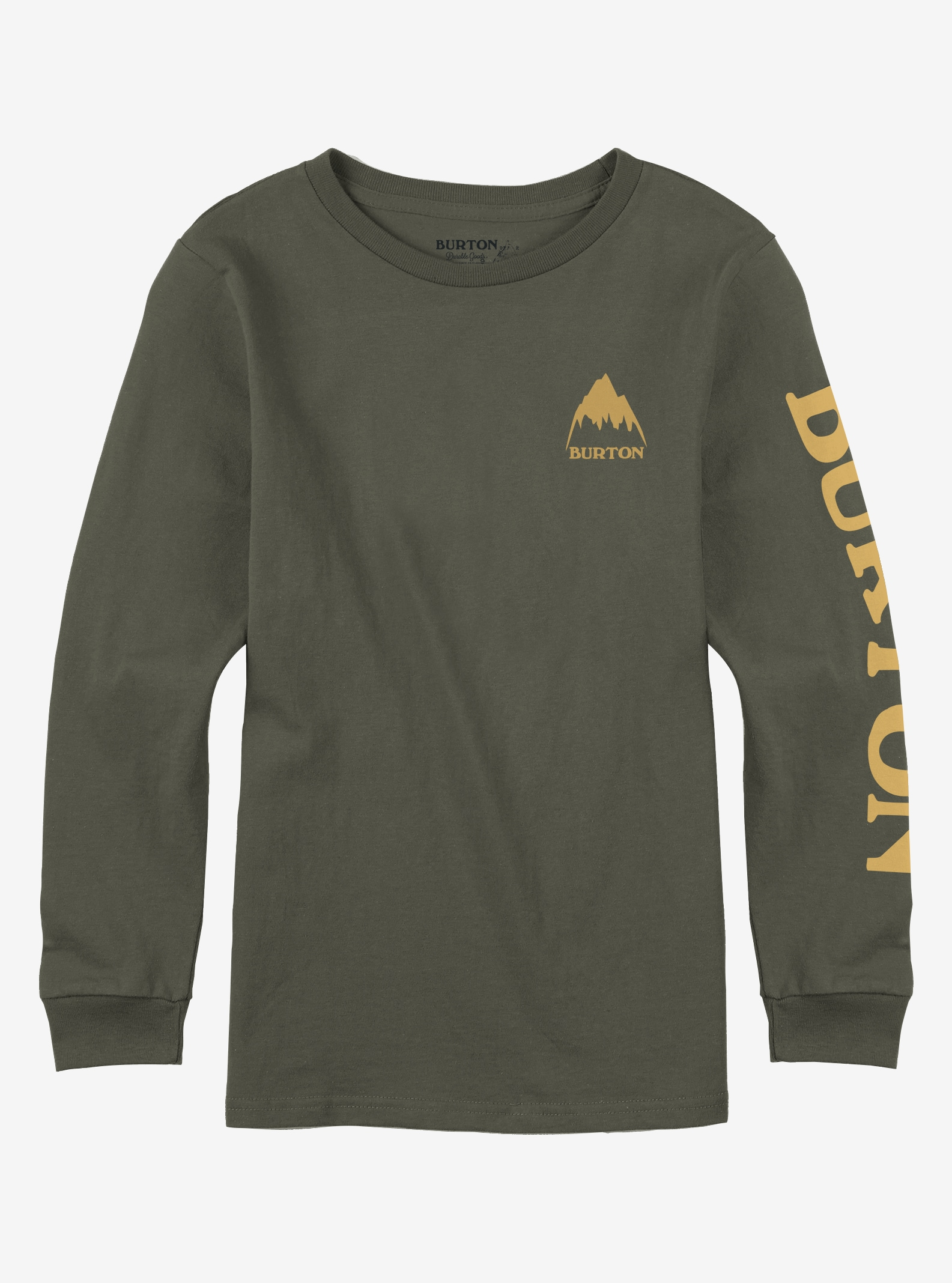 Boys' Burton Elite Long Sleeve T Shirt shown in Dusty Olive