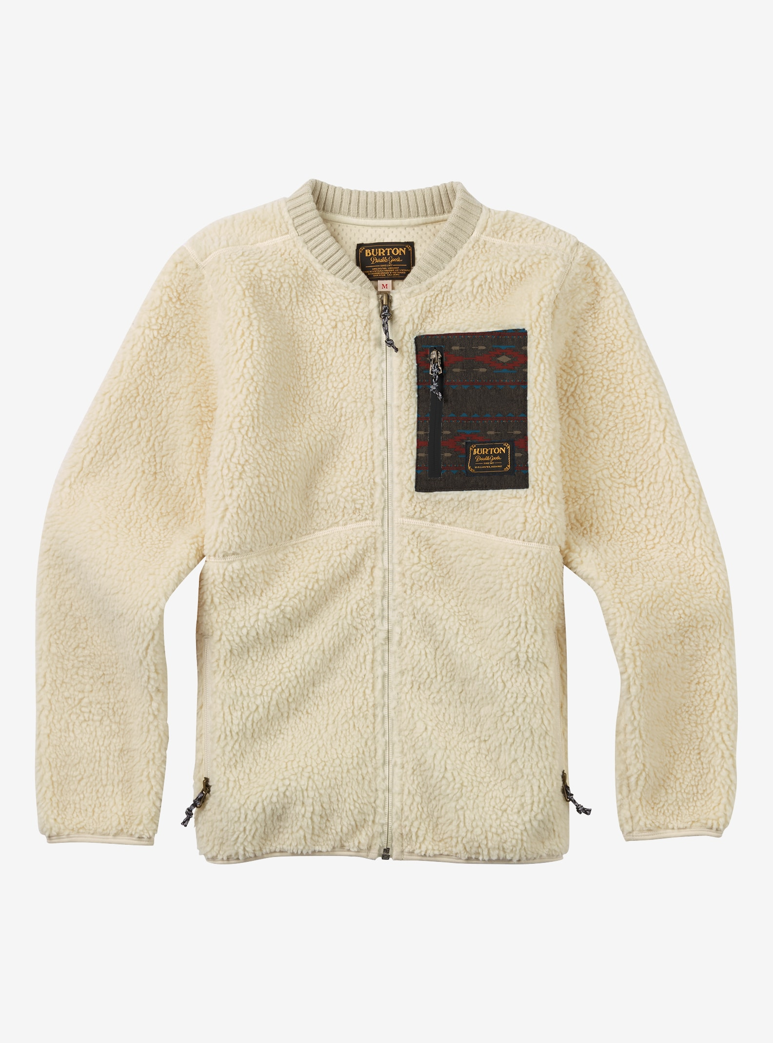Boys' Burton Grove Fleece shown in Bone White