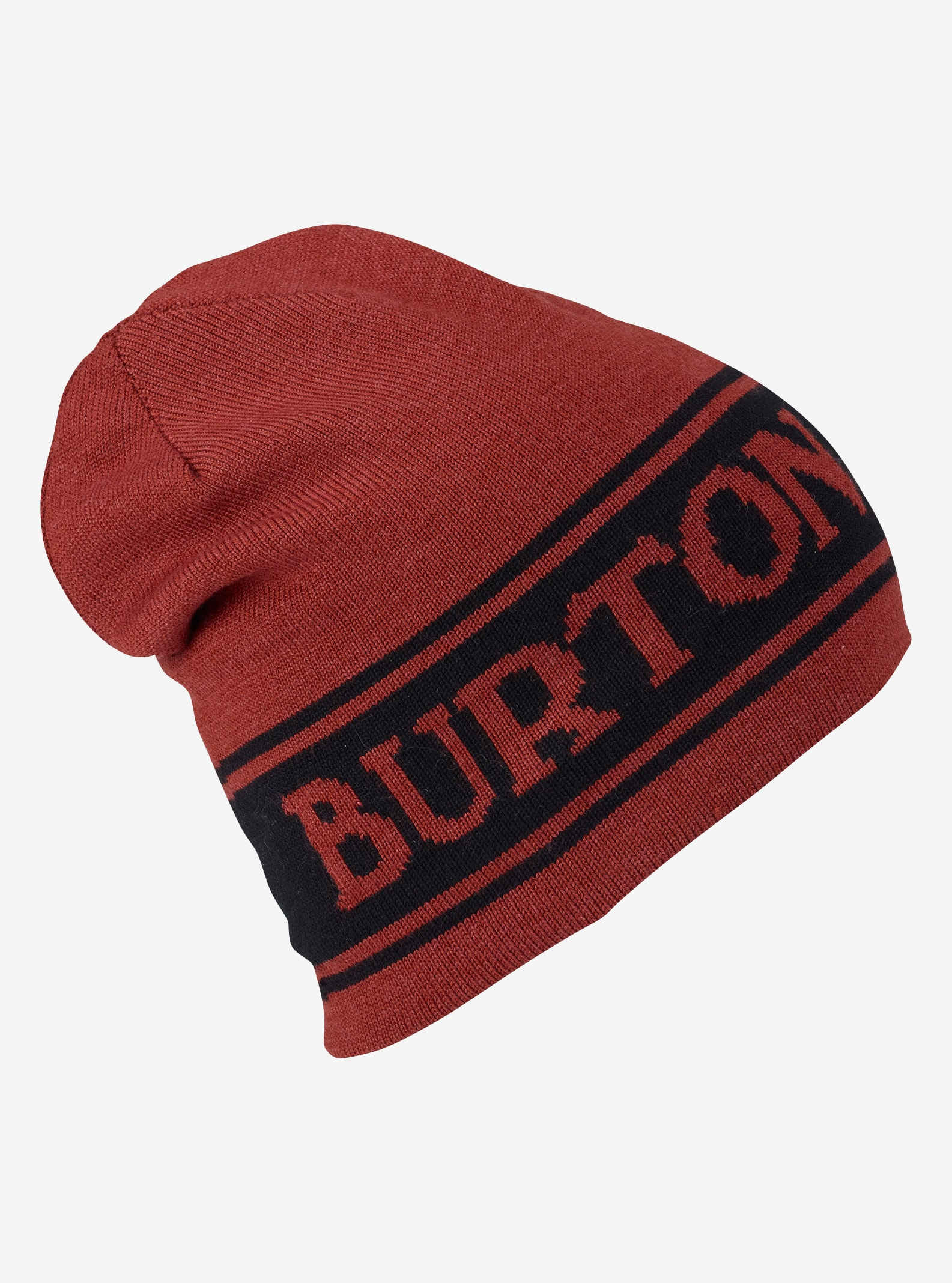 Burton Billboard Wool Beanie - Reversible shown in Fired Brick