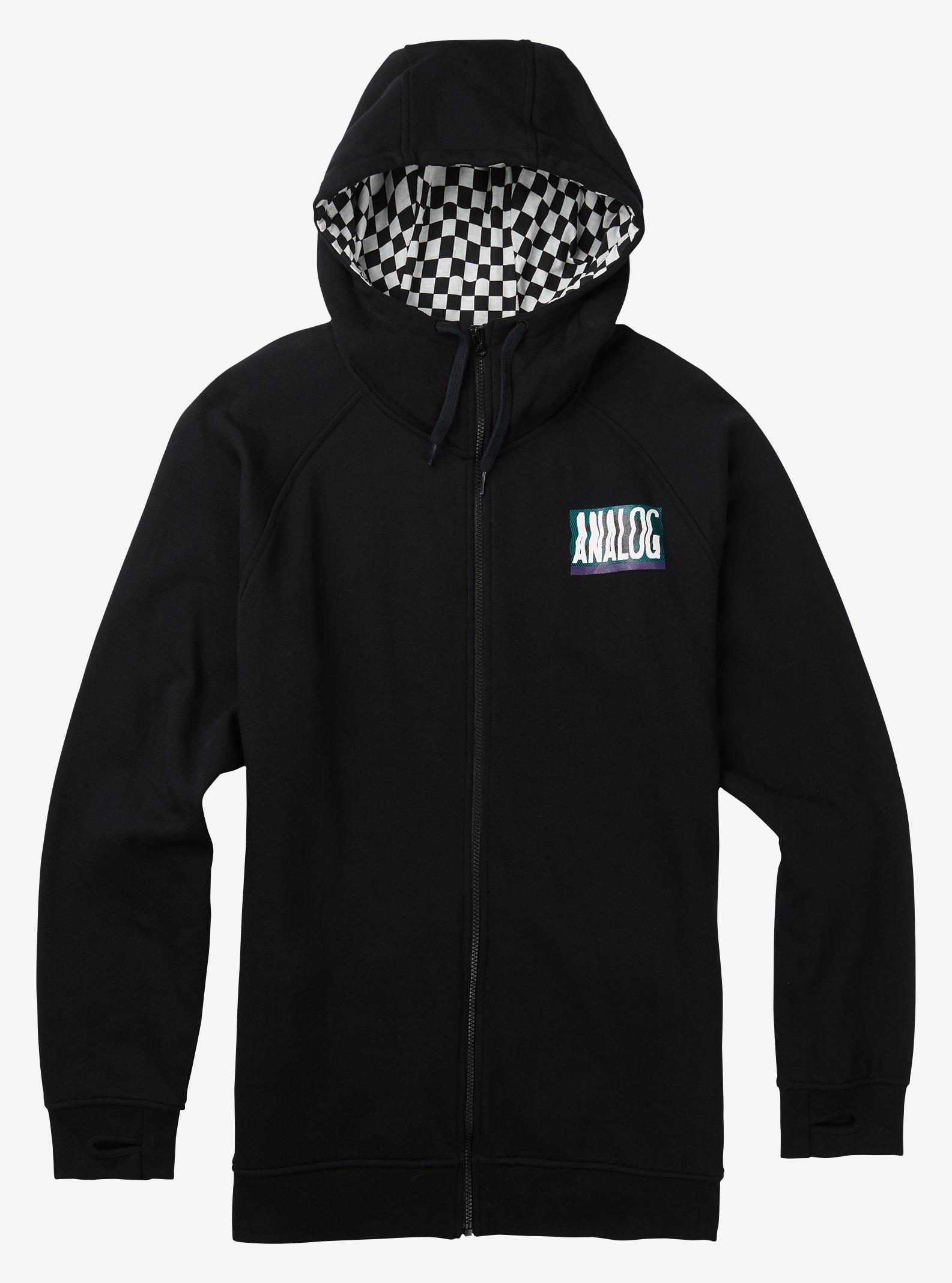 Men's Analog Bergen Full-Zip Hoodie shown in True Black