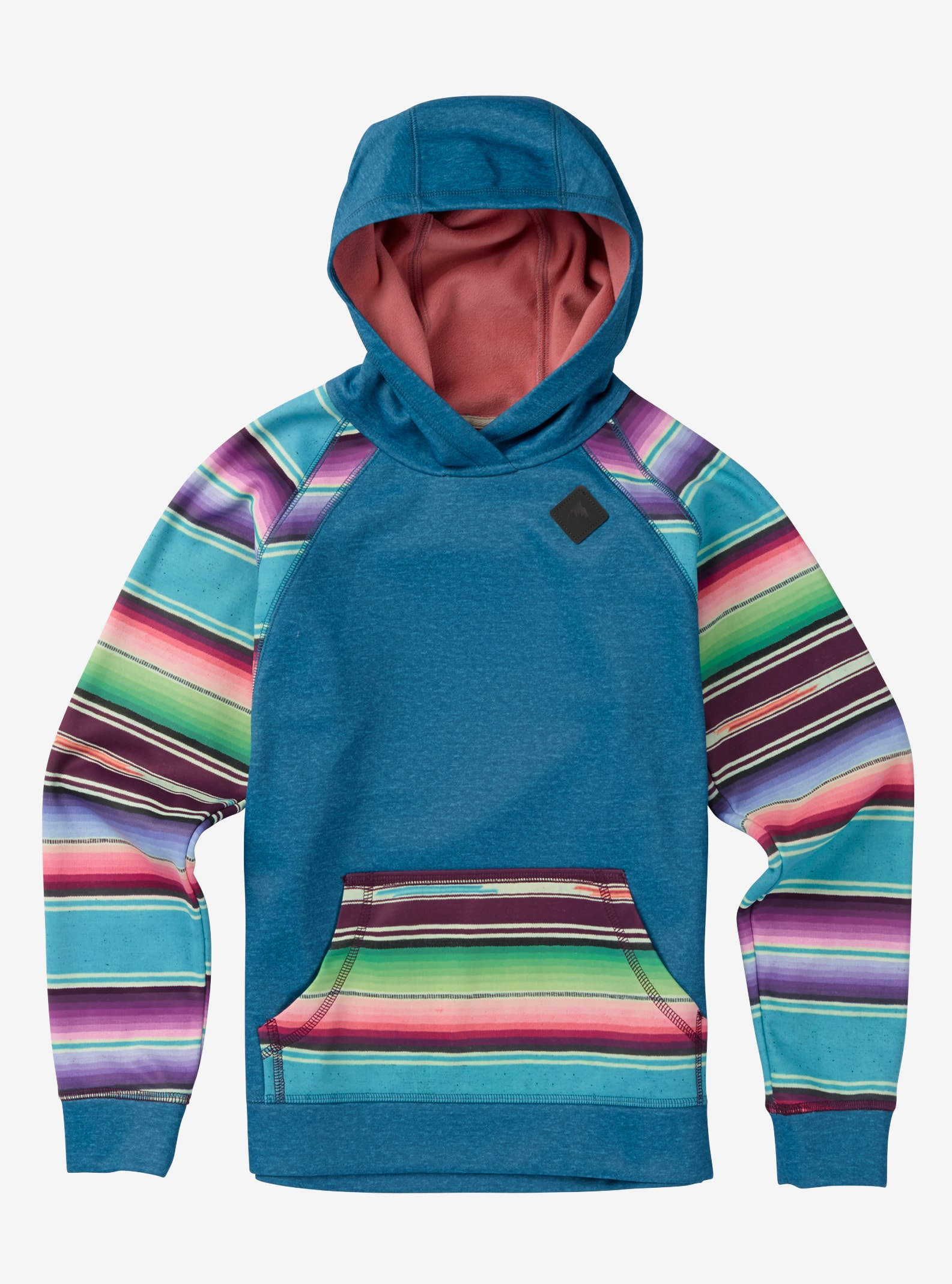 Girls' Burton Heron Pullover Hoodie shown in Larkspur / Mojave Stripe