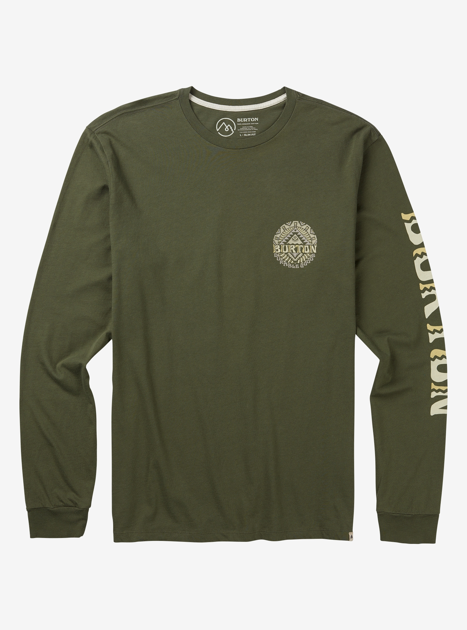 Men's Burton Monterey Long Sleeve T Shirt shown in Dusty Olive