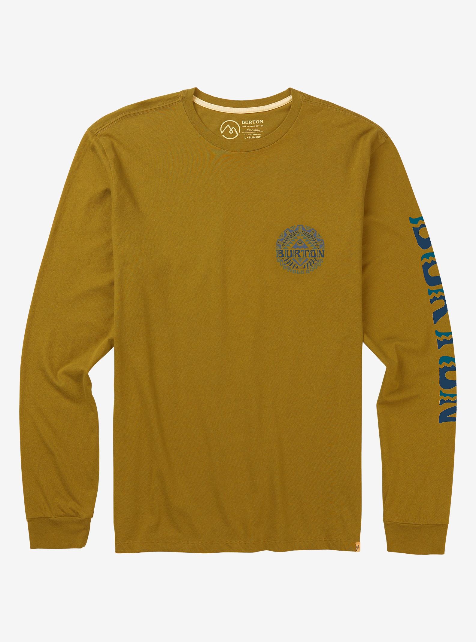 Men's Burton Monterey Long Sleeve T Shirt shown in Harvest Gold