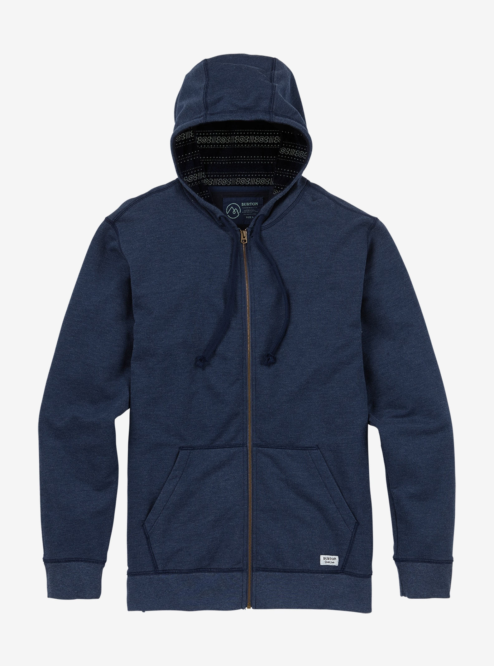 Men's Burton Subvert Full-Zip Hoodie shown in Mood Indigo