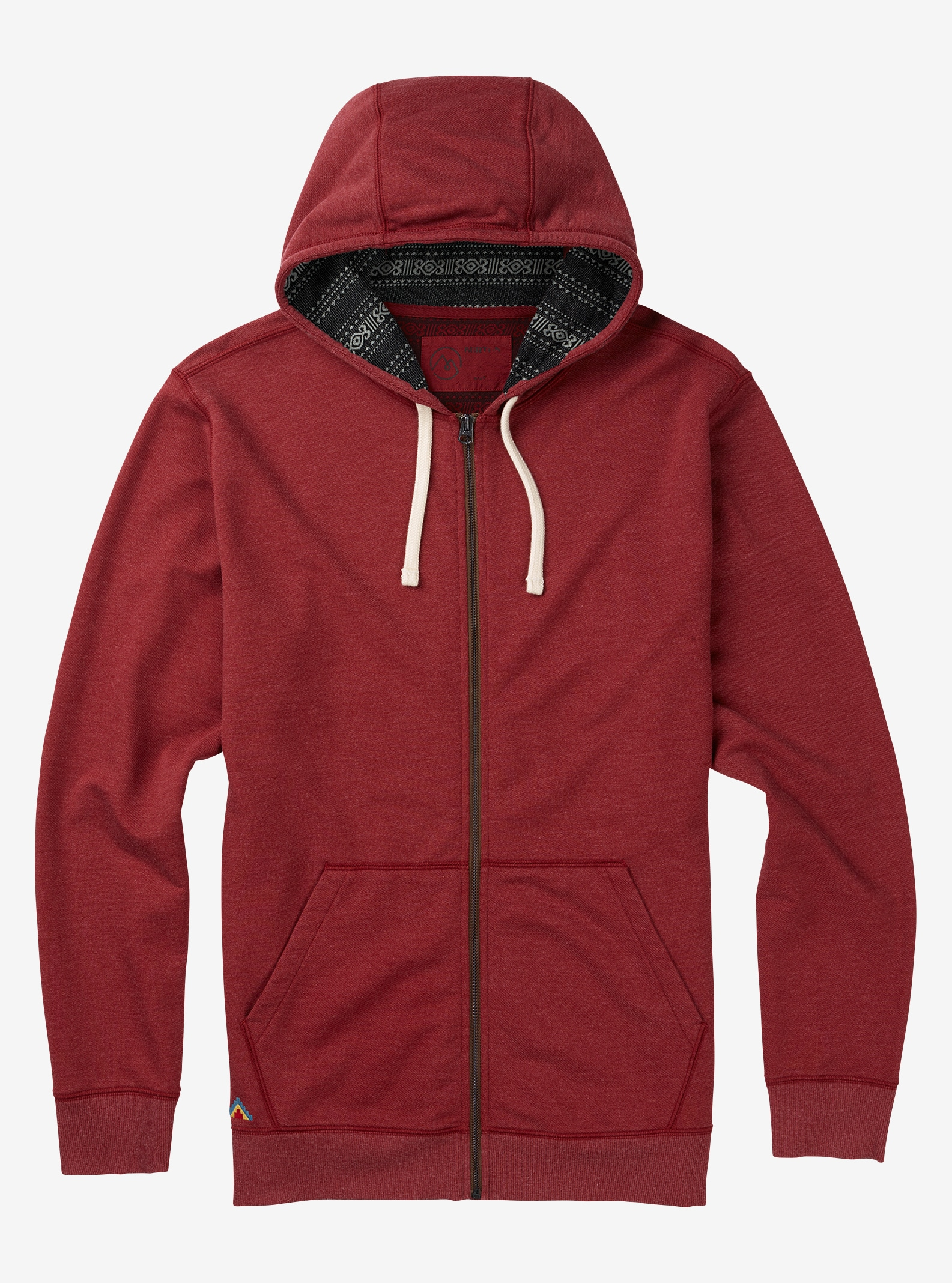 Men's Burton Subvert Full-Zip Hoodie shown in Wino