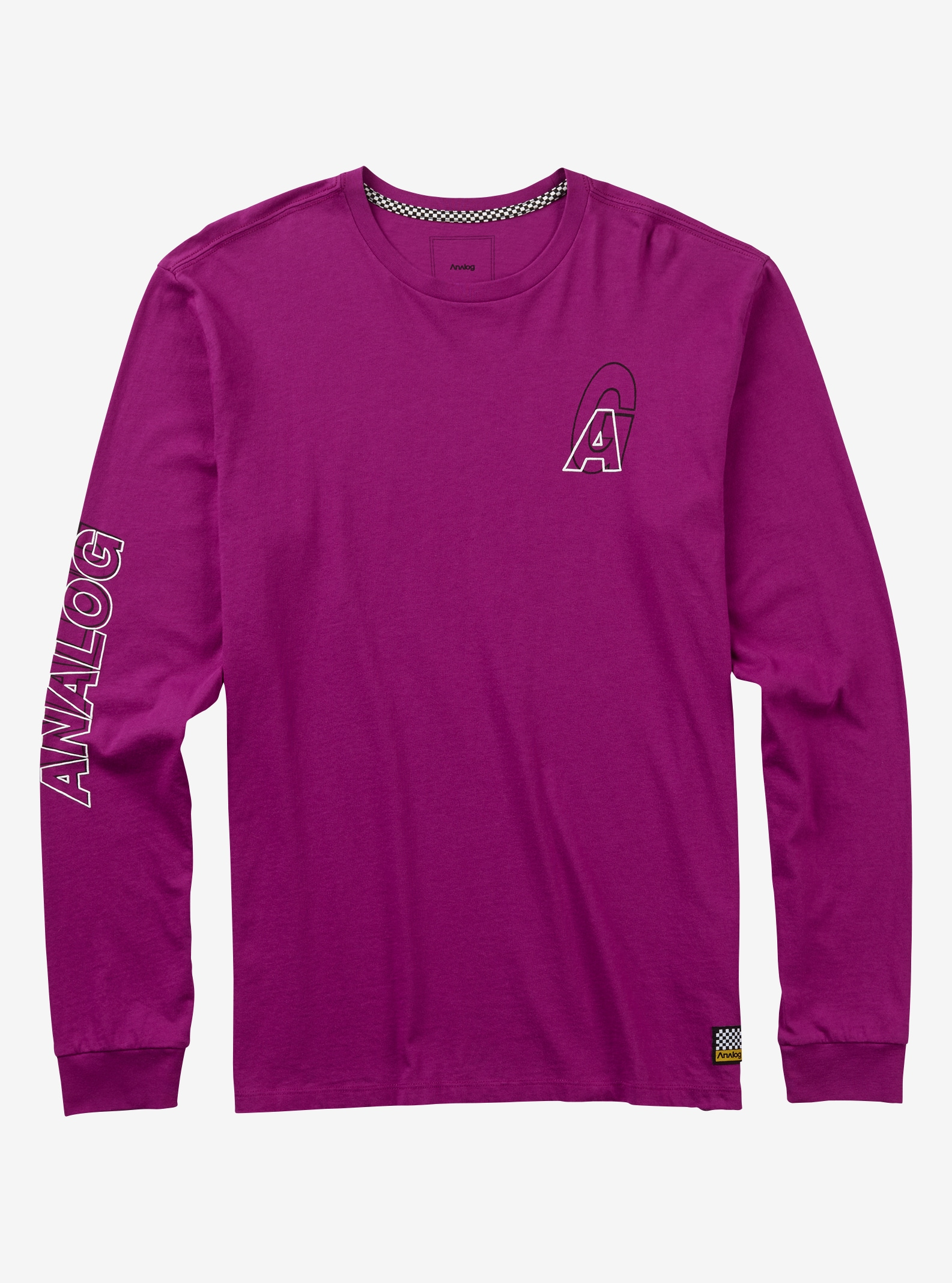 Men's Analog Baltic Long Sleeve T Shirt shown in Grapeseed