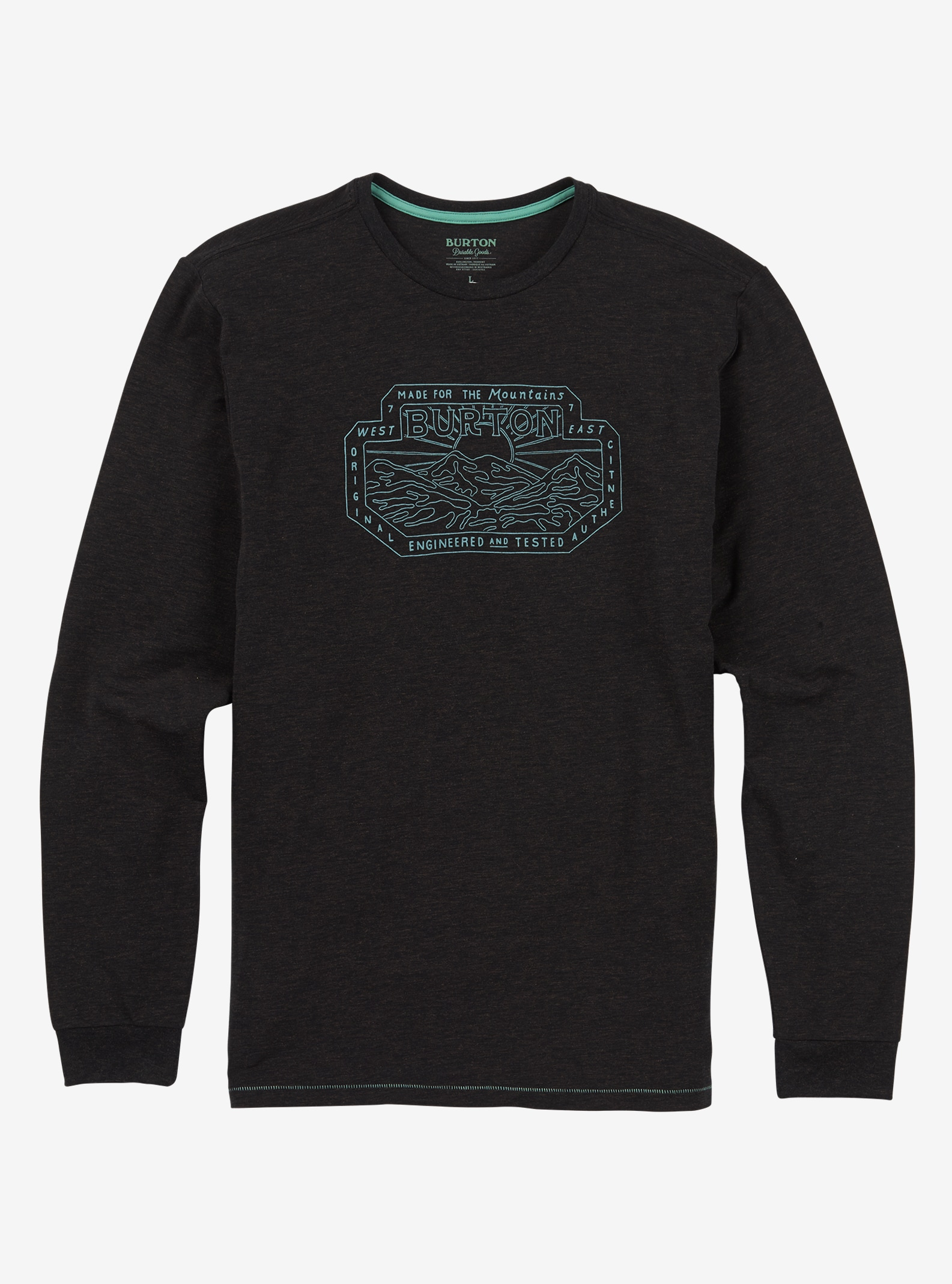 Men's Burton Salton Long Sleeve T Shirt shown in True Black Heather
