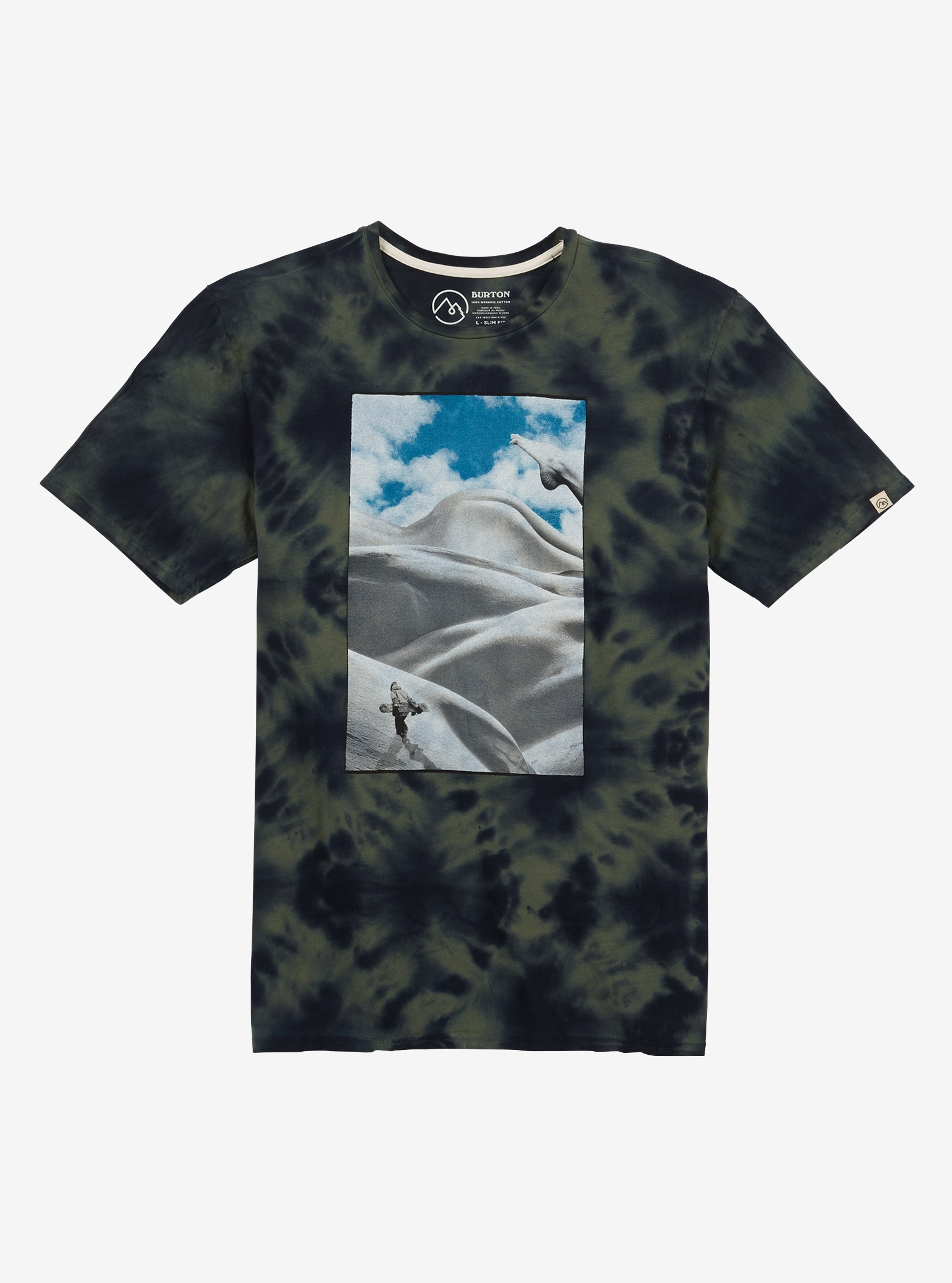 Men's Burton Butte Drift Short Sleeve T Shirt shown in Two Tone Tie Dye