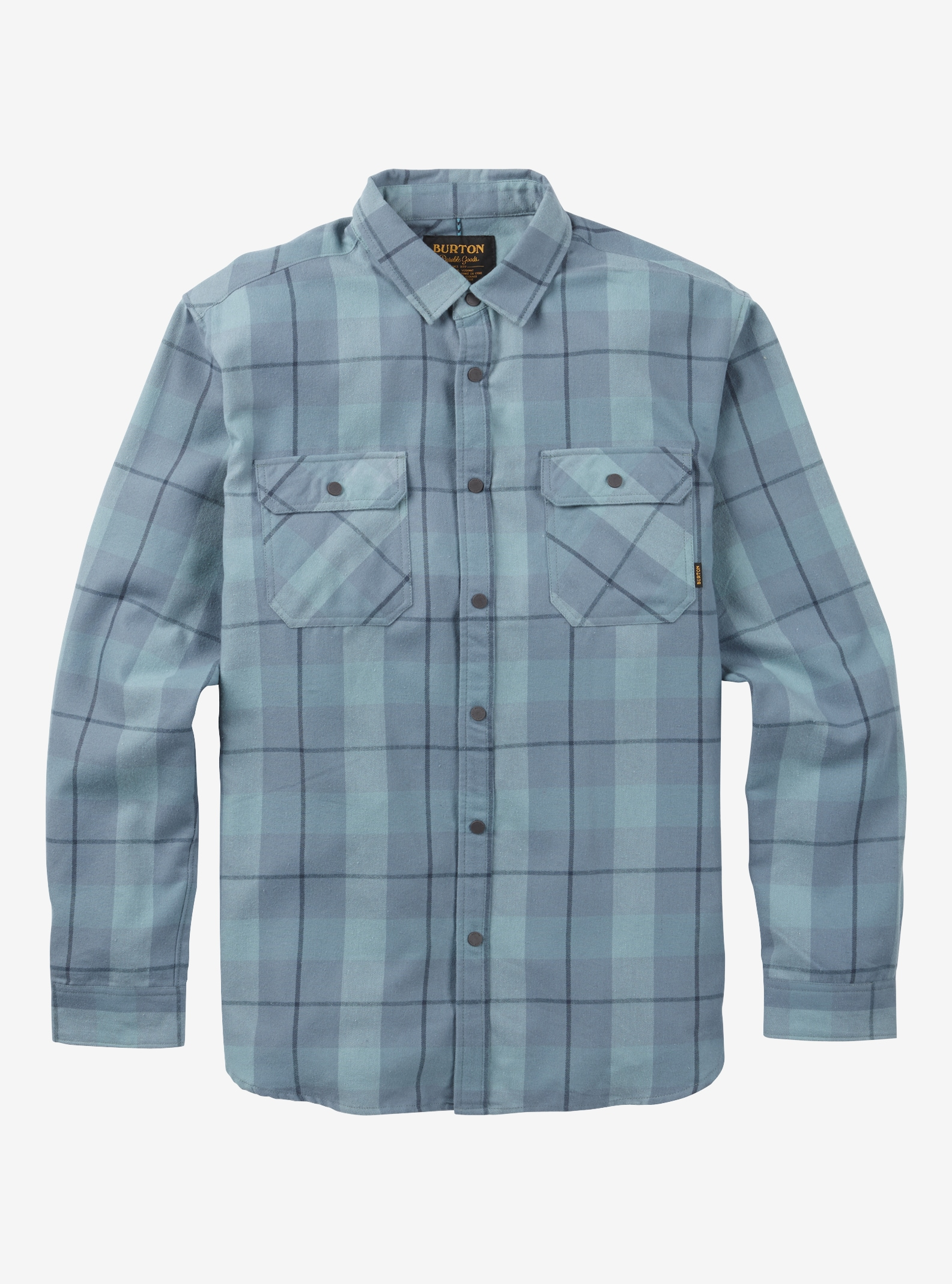 Men's Burton Brighton Tech Flannel shown in Whale Boxelder Plaid