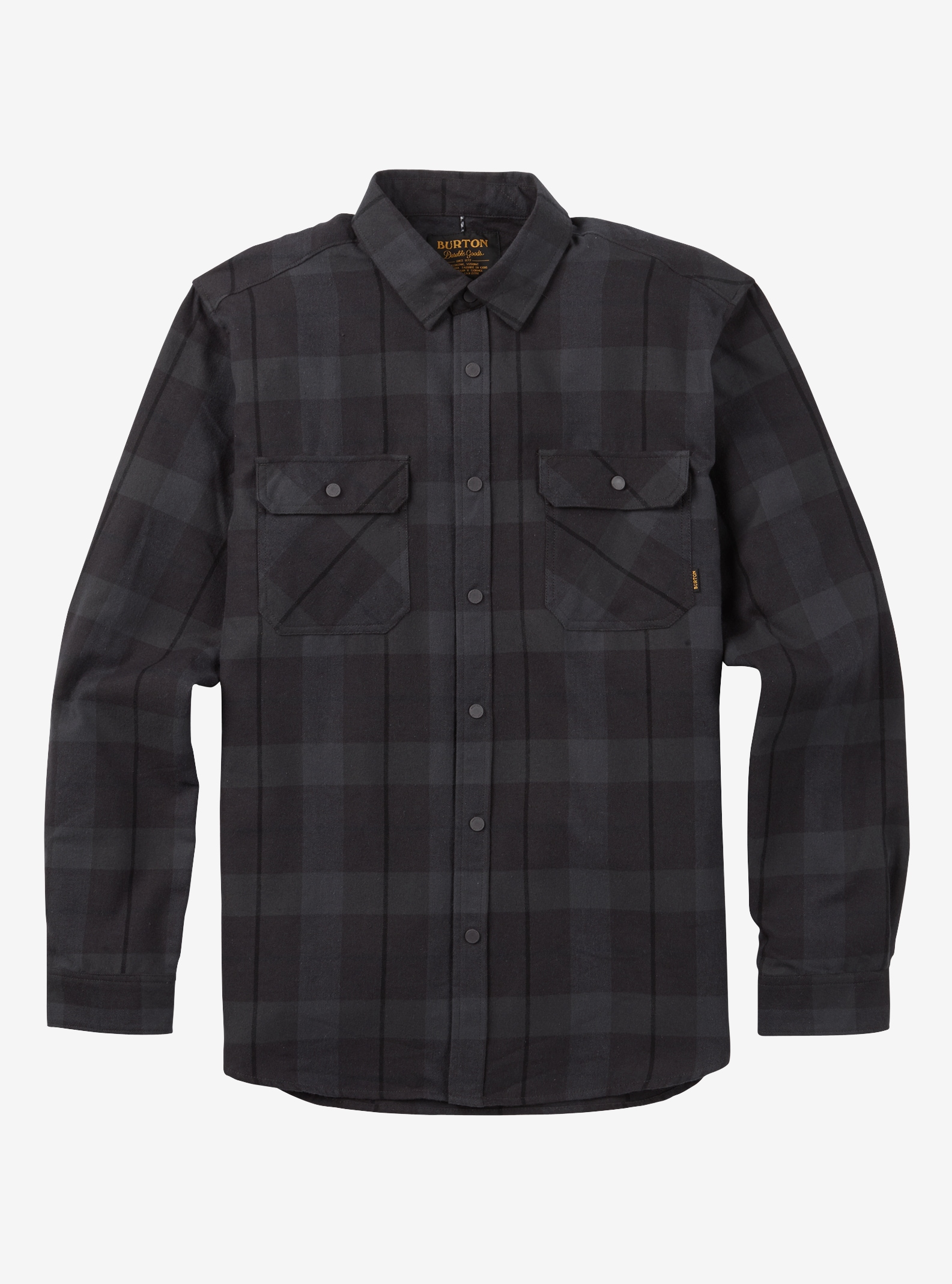 Men's Burton Brighton Tech Flannel shown in True Black Boxelder Plaid