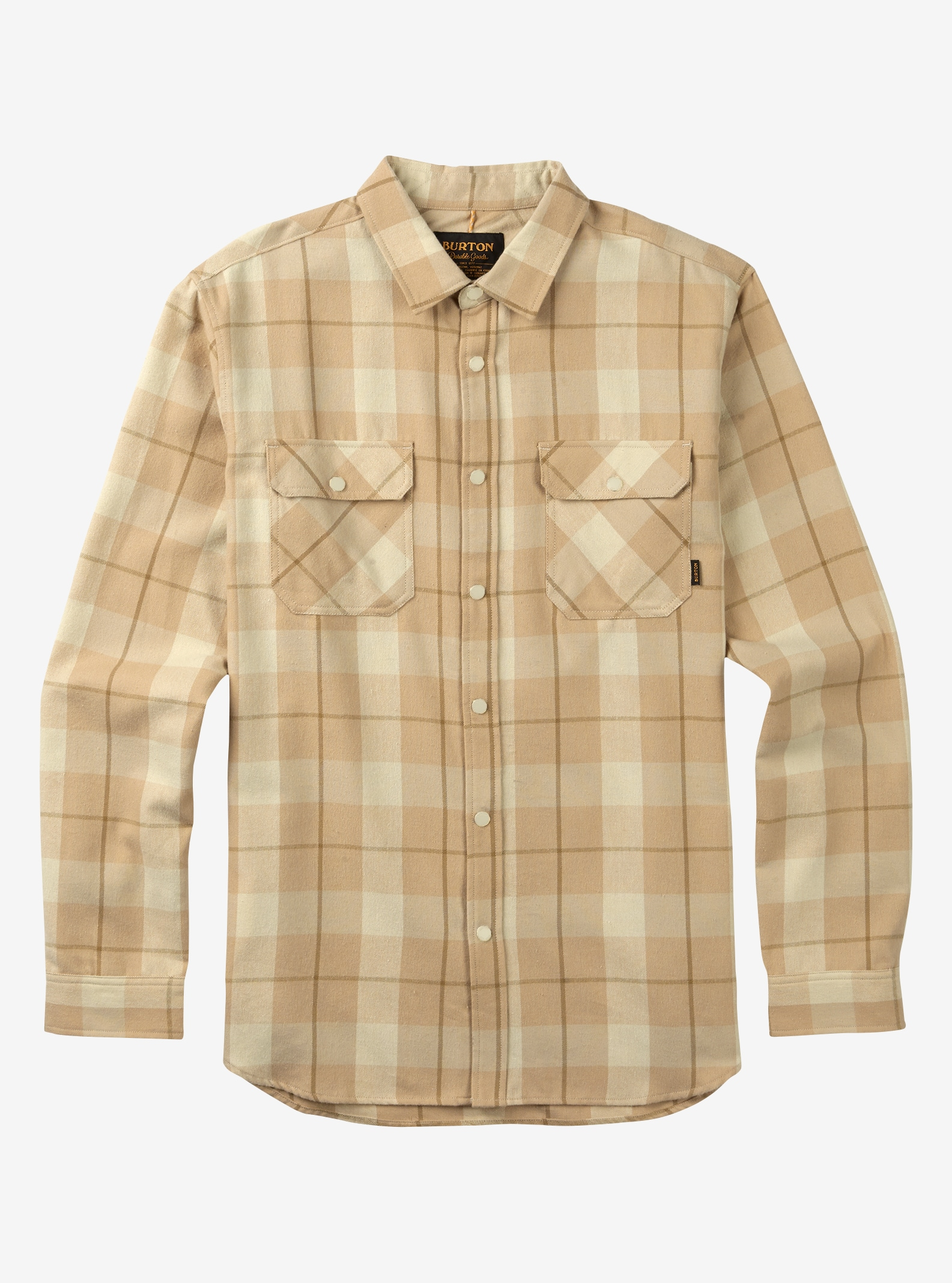 Men's Burton Brighton Tech Flannel shown in Canvas Boxelder Plaid
