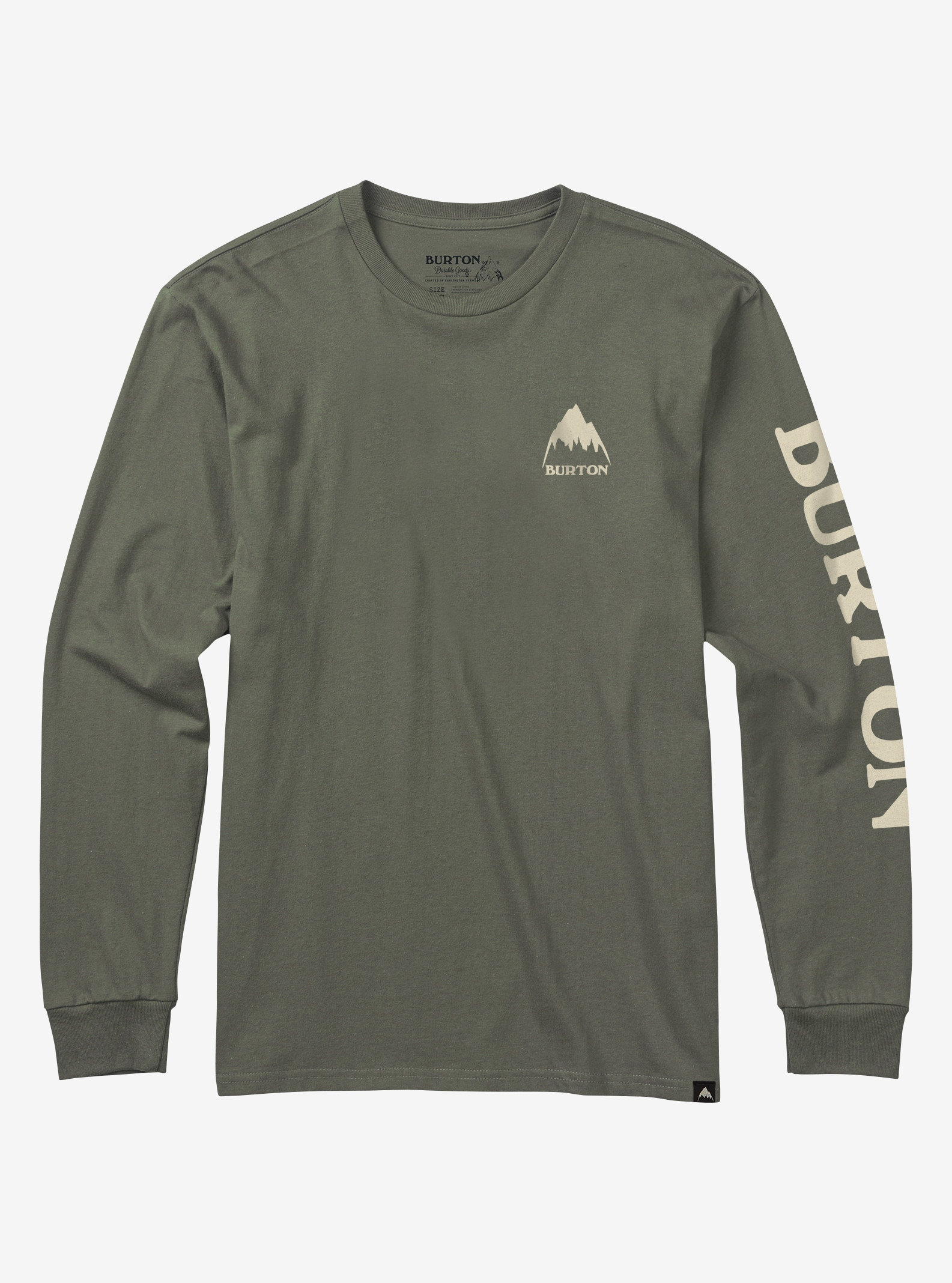 Men's Burton Elite Long Sleeve T Shirt shown in Dusty Olive