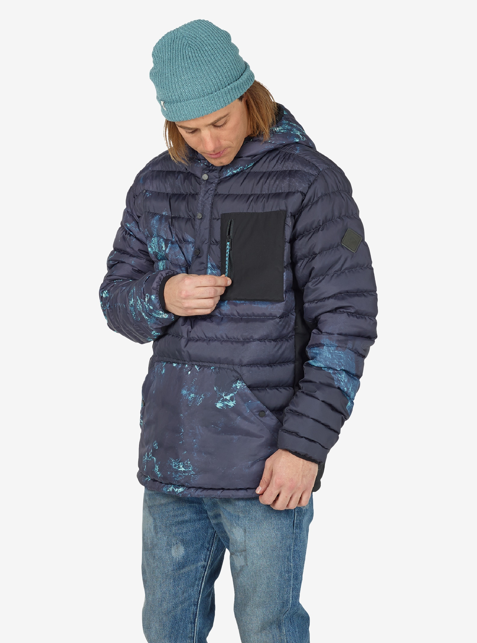 Men's Burton Evergreen Down Anorak Insulator shown in Nix Olympia