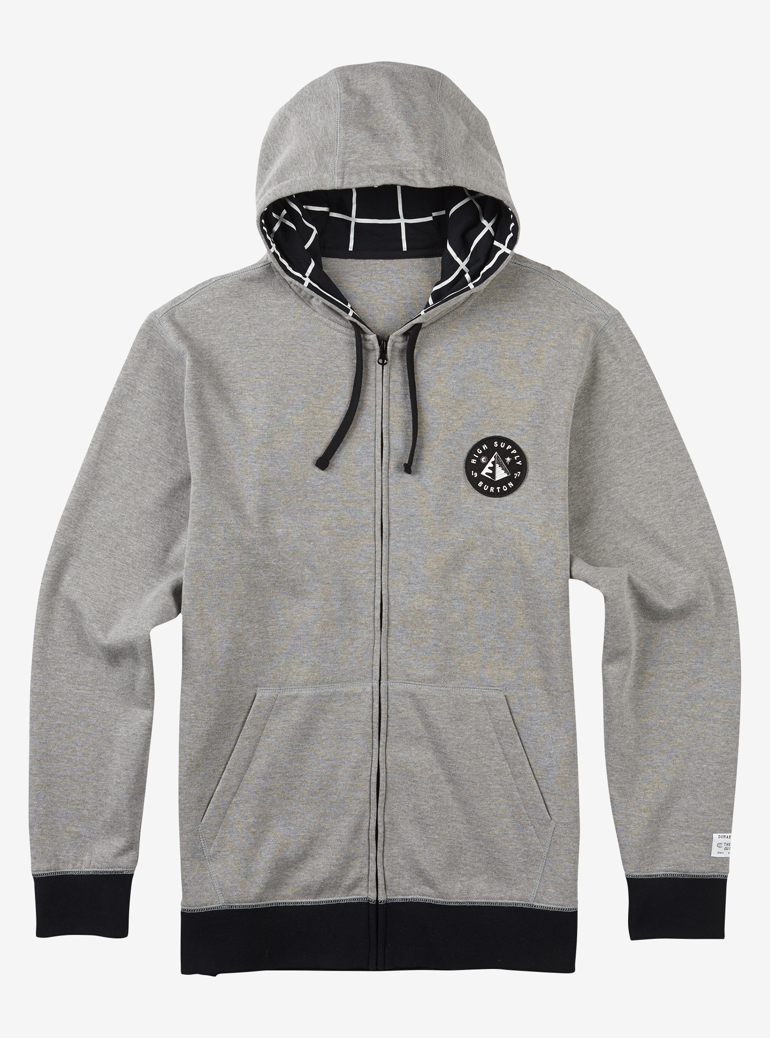 Men's Burton High Supply Full-Zip Hoodie shown in Gray Heather