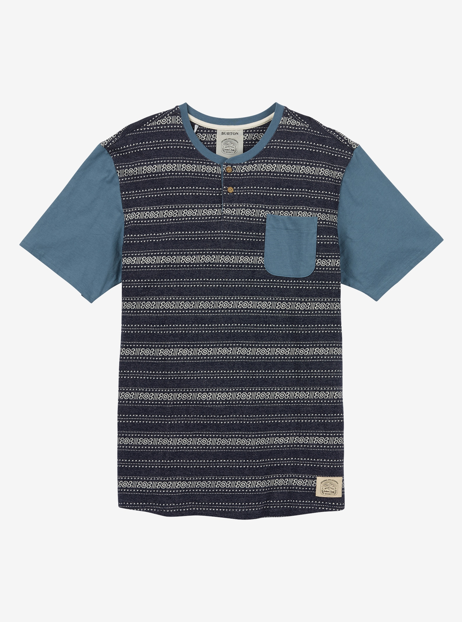 Men's Burton Dwight Short Sleeve T Shirt shown in Indigo