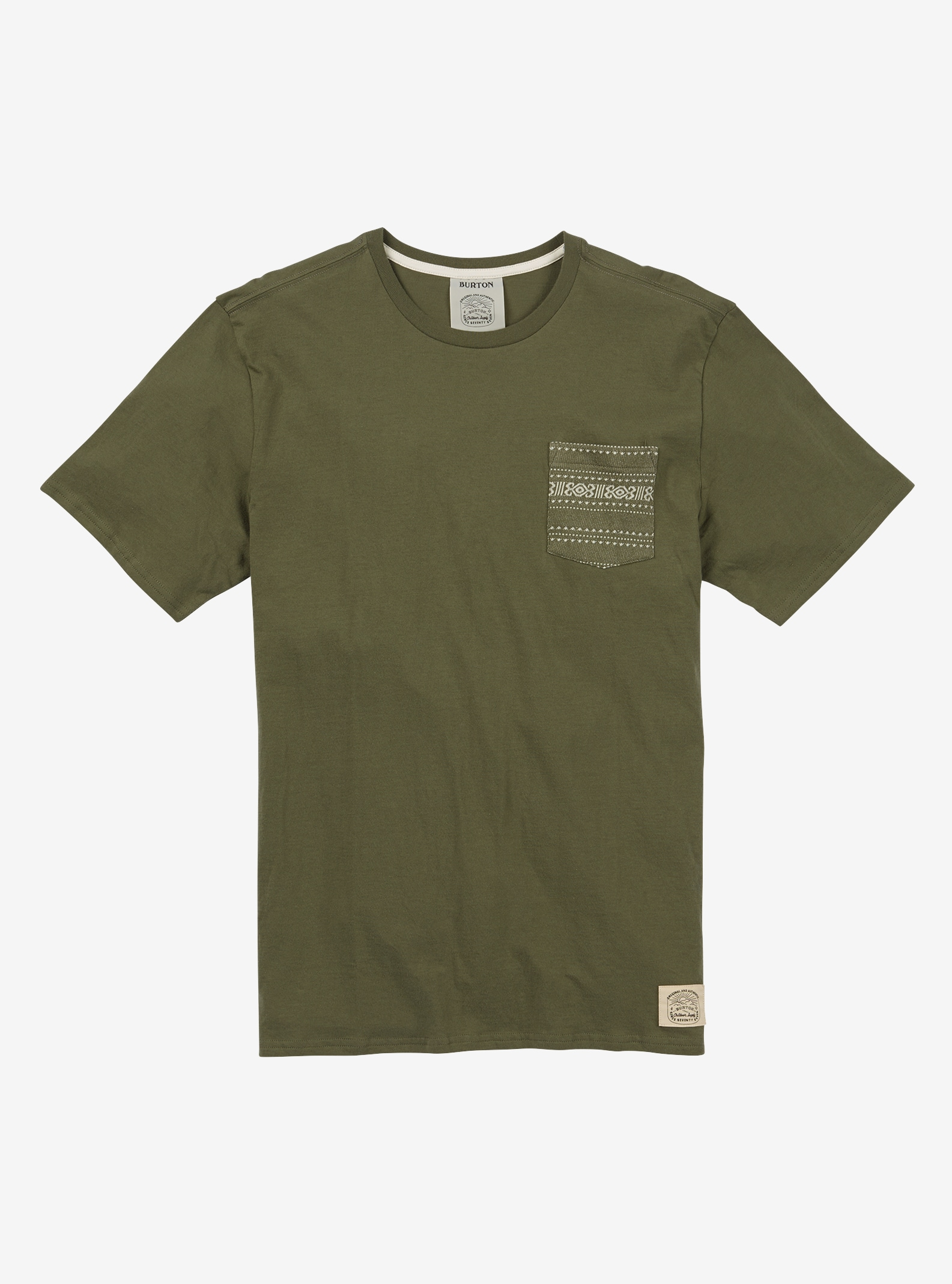 Men's Burton Reed Short Sleeve T Shirt shown in Dusty Olive