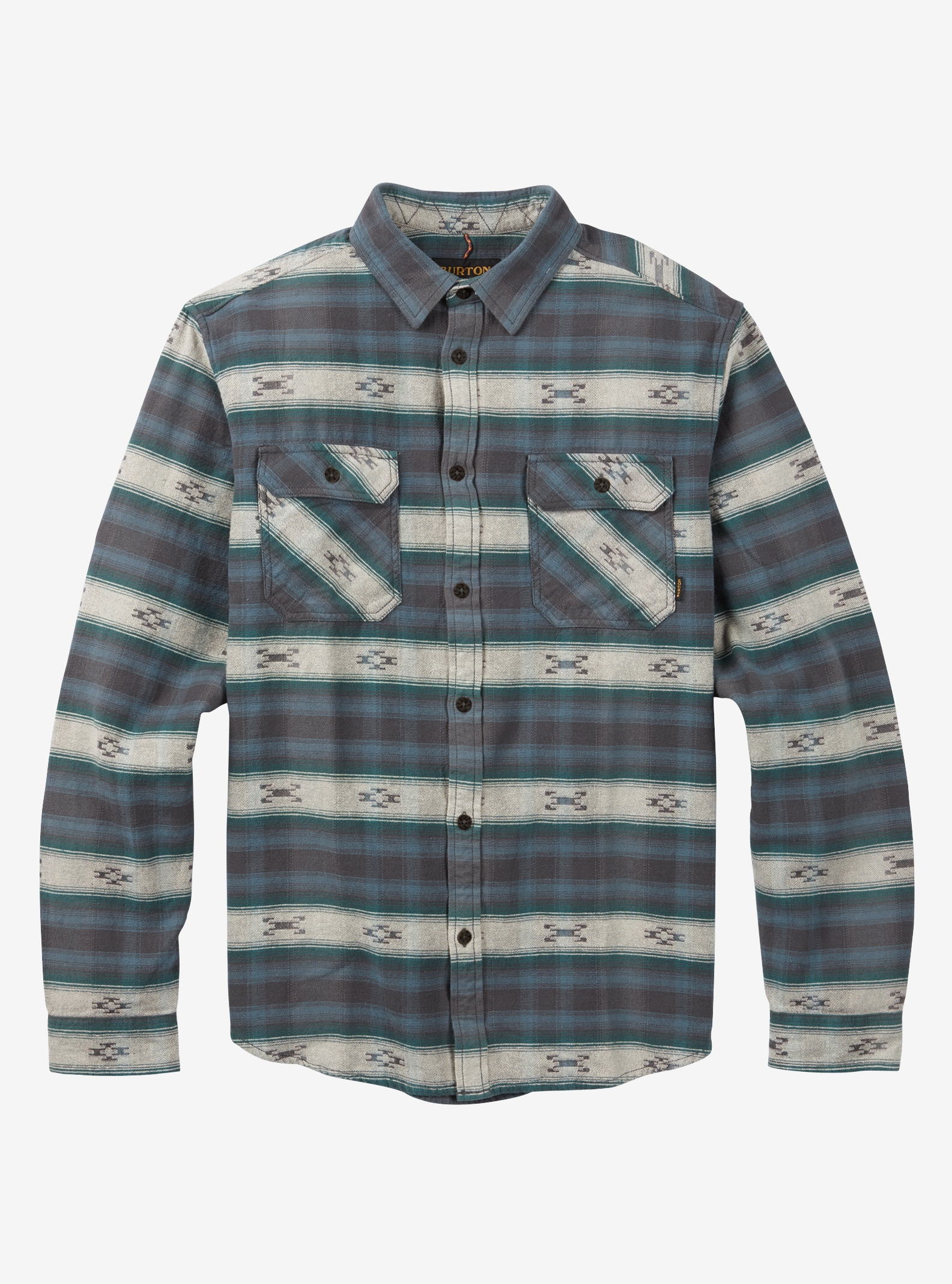 Men's Burton Brighton Burly Flannel shown in LA Sky Azrek
