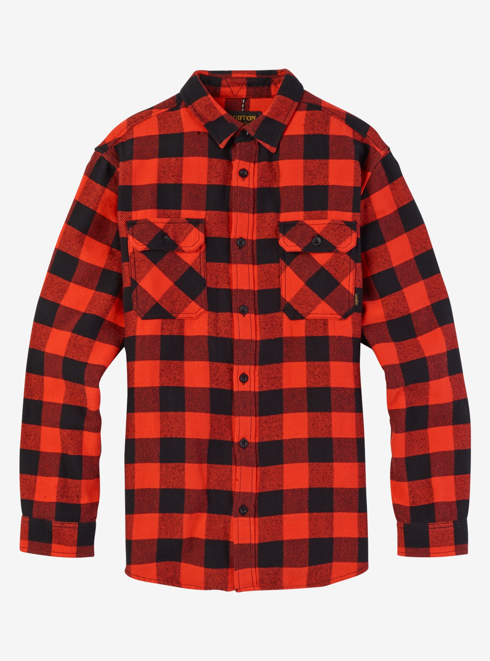 Men's Burton Brighton Burly Flannel shown in Fiery Buffalo Plaid