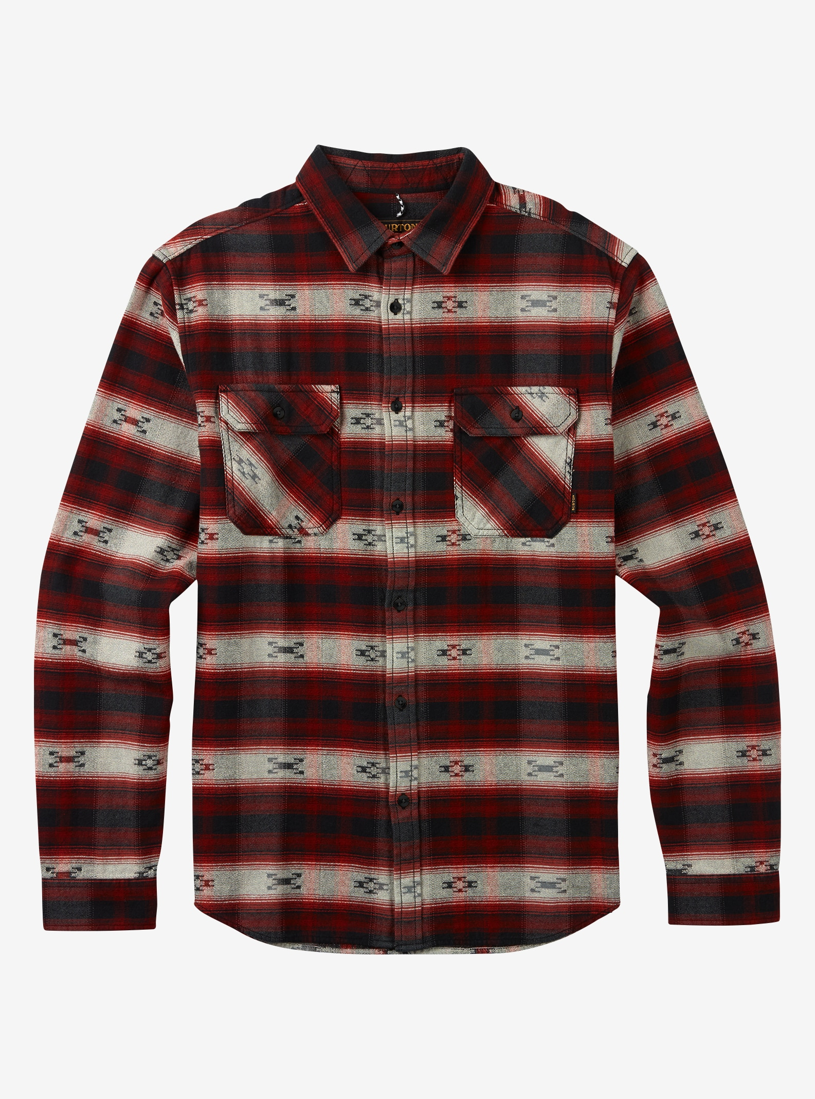 Men's Burton Brighton Burly Flannel shown in Fired Brick Azrek