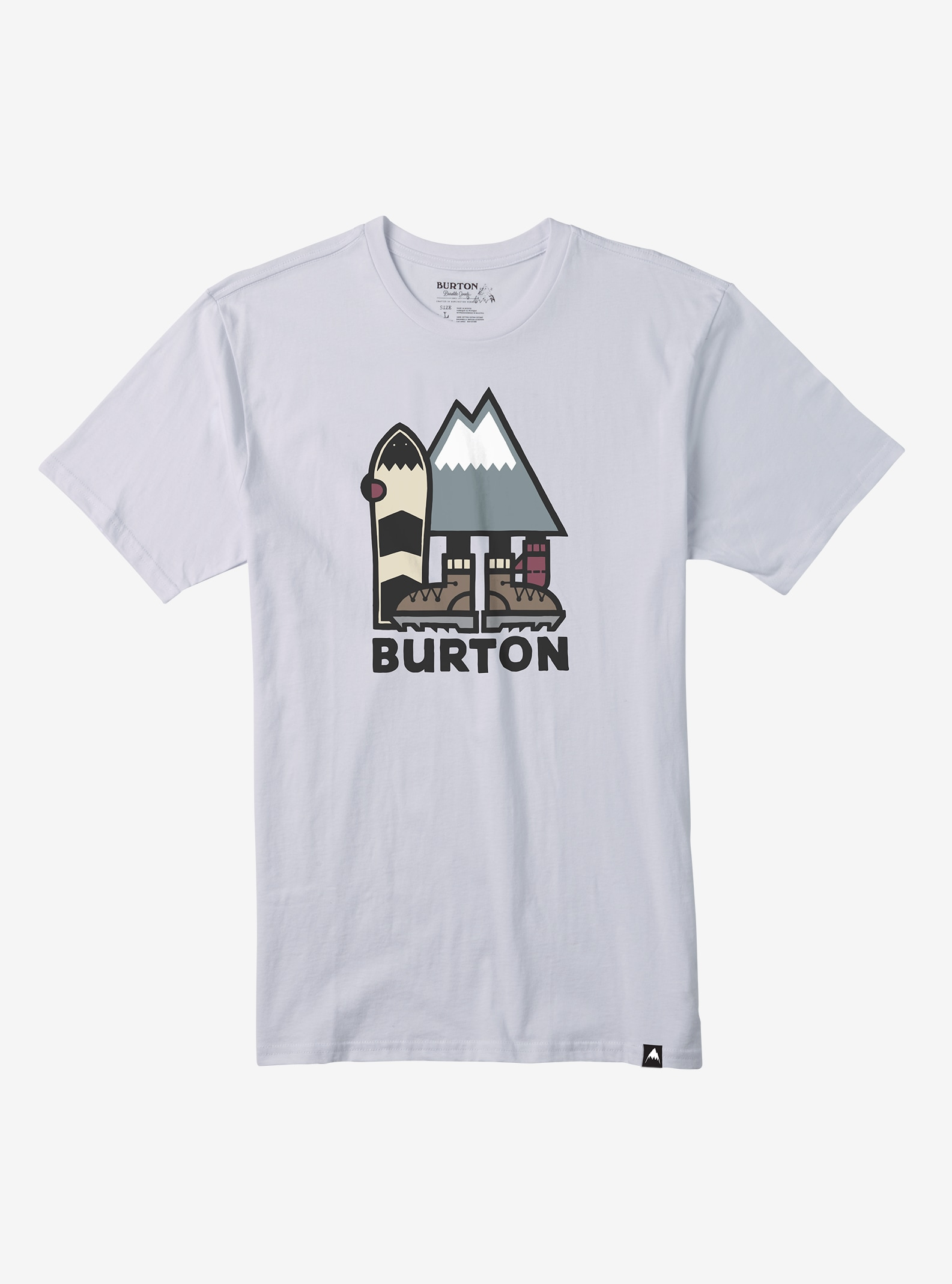 Men's Burton Ripton Short Sleeve T Shirt shown in Stout White