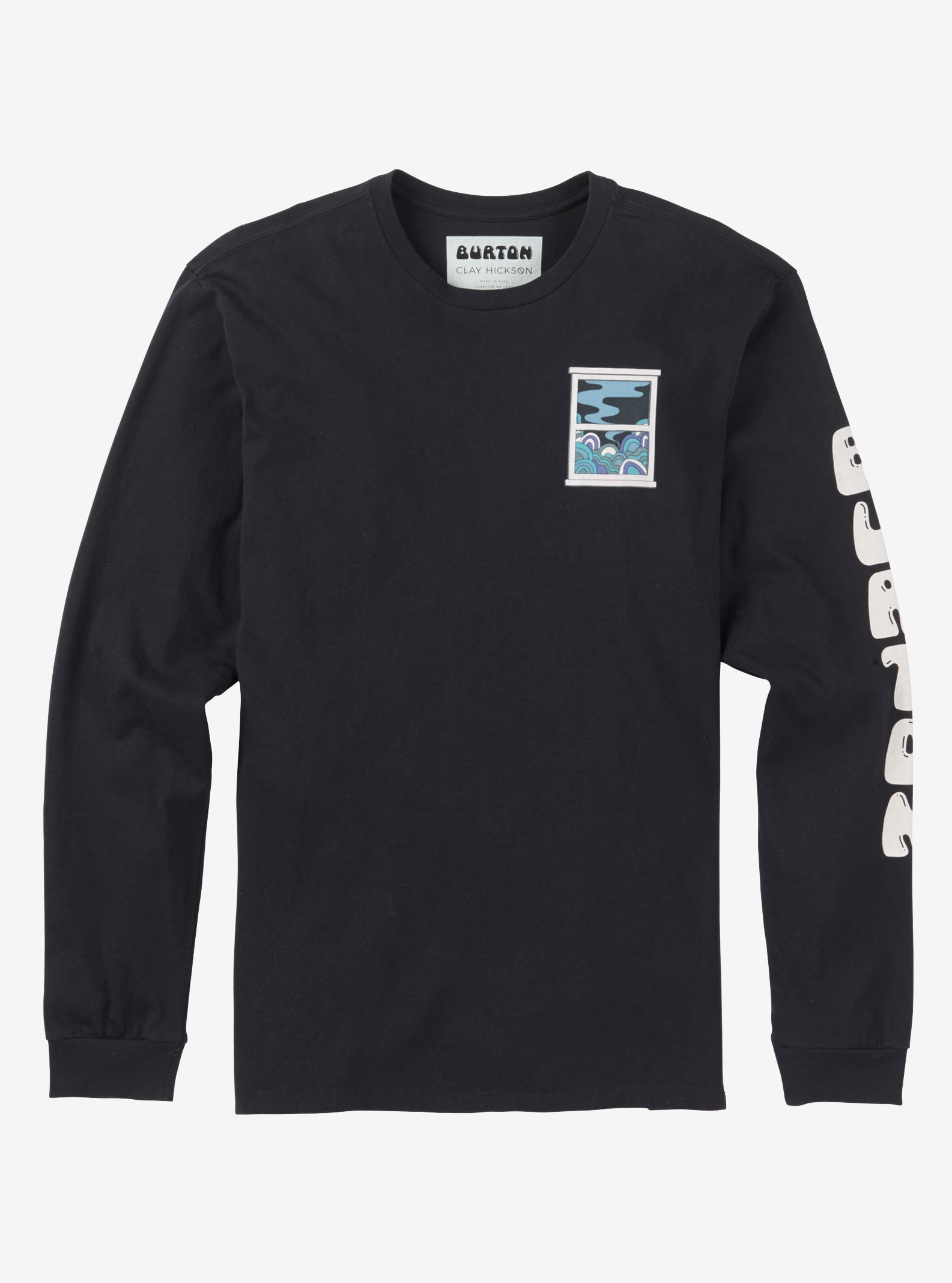 Men's Burton Newport Long Sleeve T Shirt shown in True Black