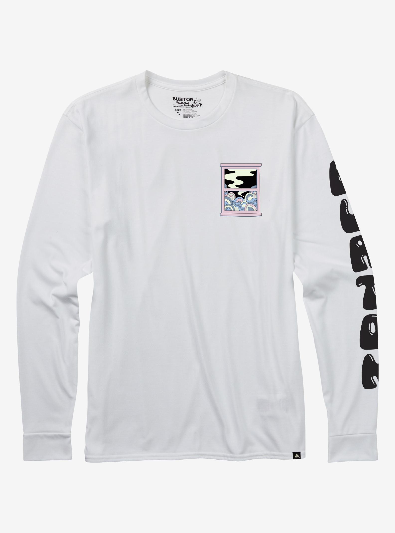 Men's Burton Newport Long Sleeve T Shirt shown in Stout White